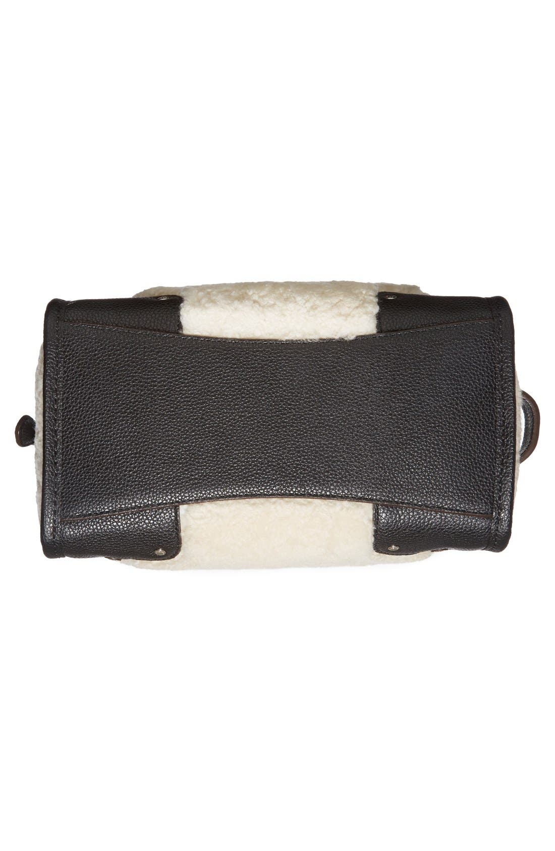 COACH,                             'Rhyder 24' Genuine Shearling & Leather Satchel,                             Alternate thumbnail 2, color,                             900