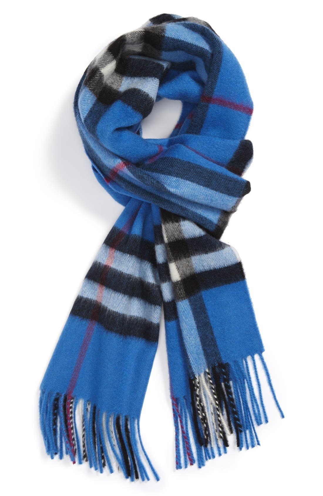 Heritage Check Cashmere Scarf,                             Main thumbnail 20, color,