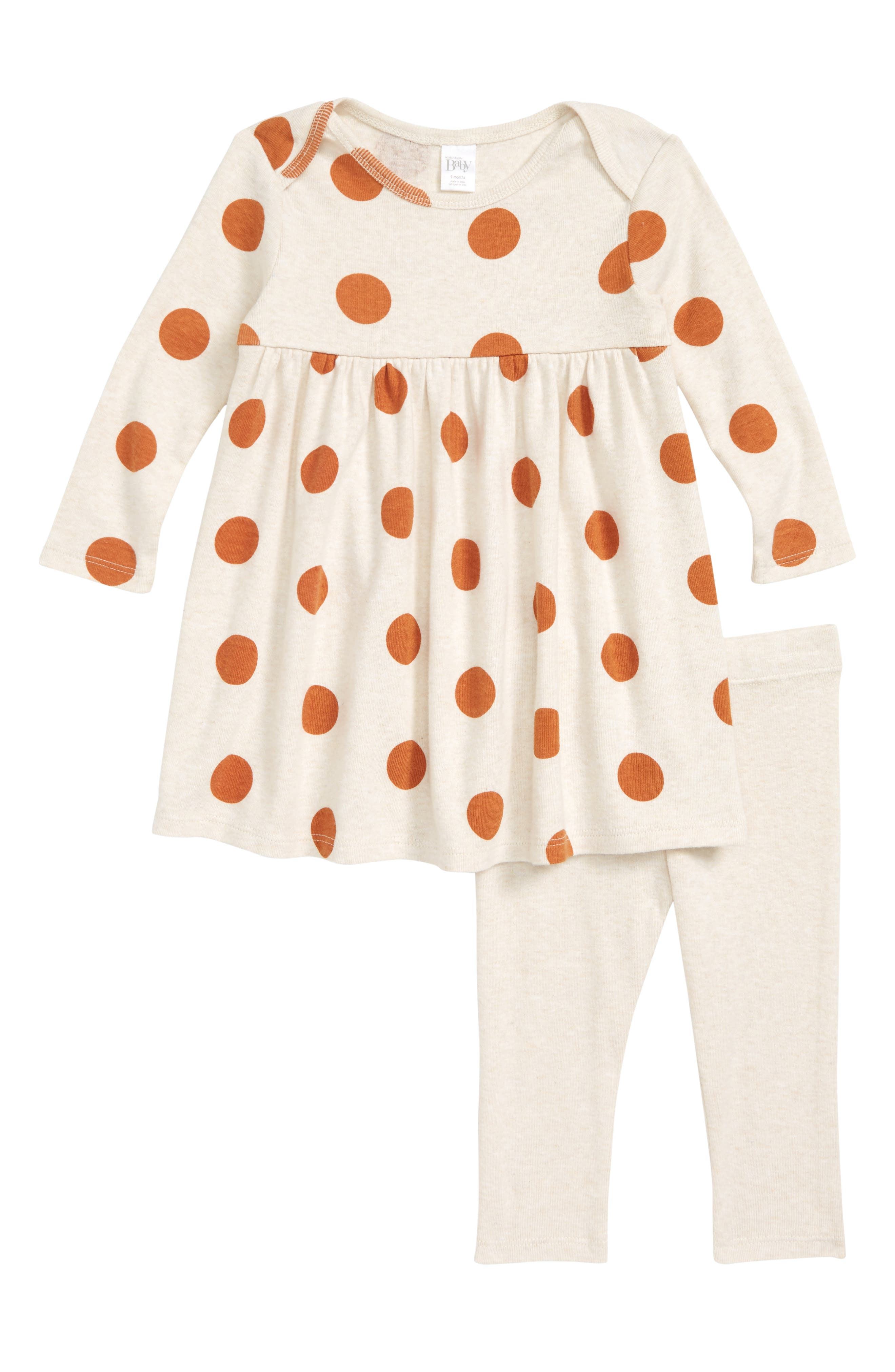 Dot Dress & Leggings Set,                             Main thumbnail 1, color,                             900