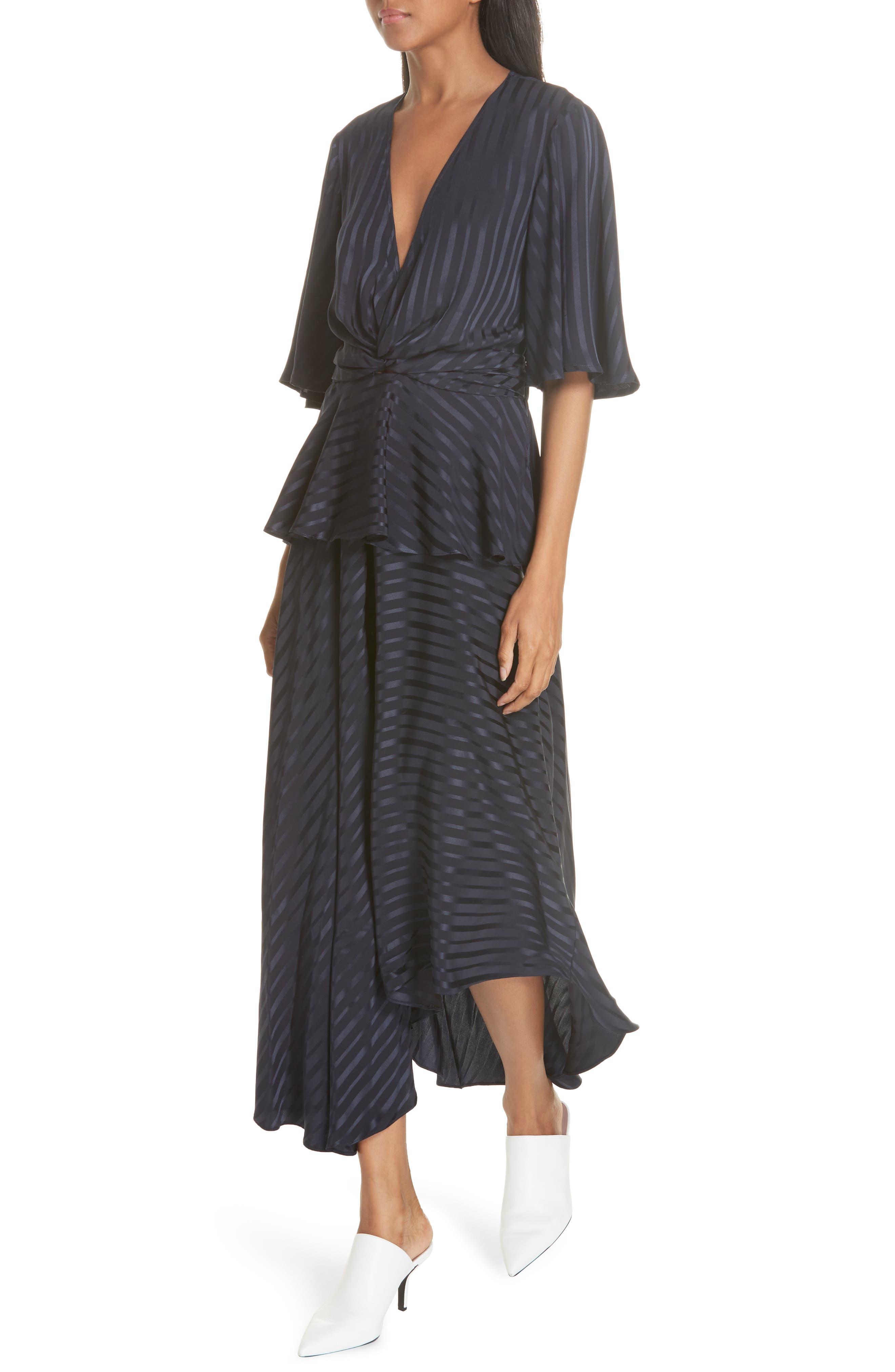Avi Silk Dress,                             Alternate thumbnail 4, color,                             410
