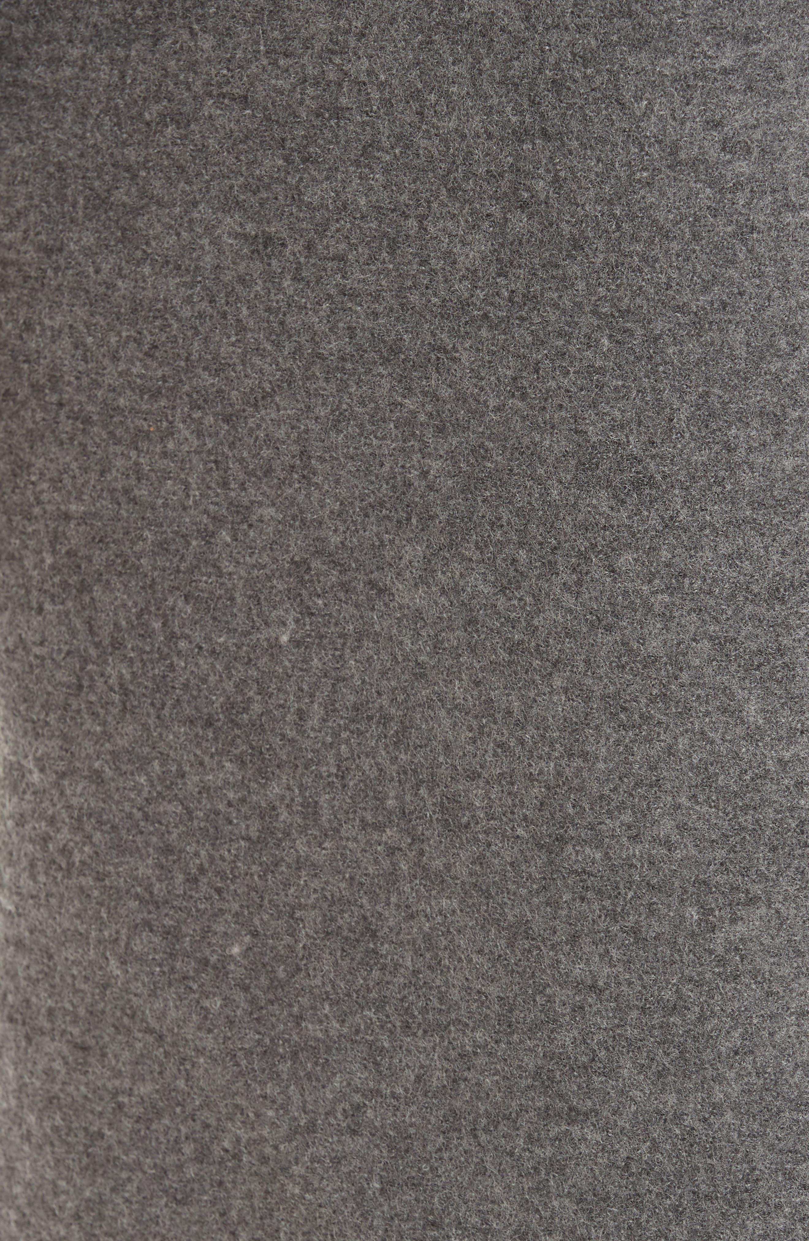 One Button Wool Coat,                             Alternate thumbnail 7, color,                             GREY MELANGE