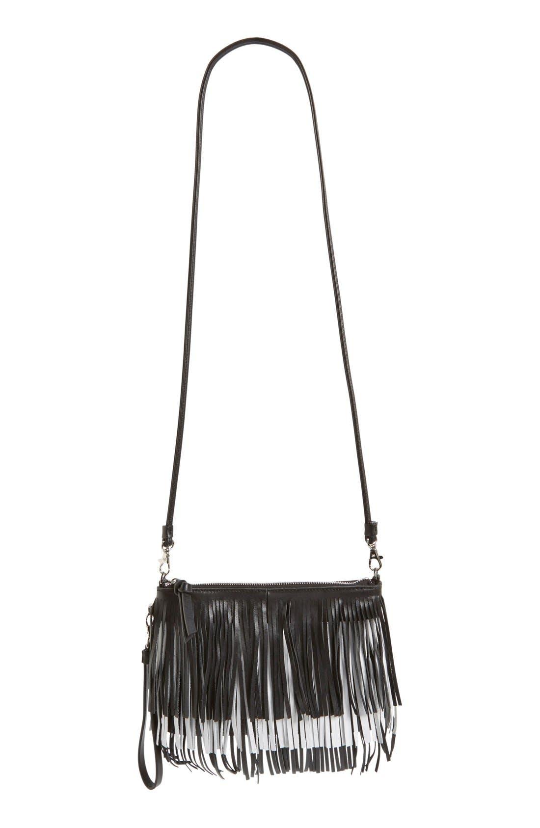 'Camilla' Convertible Crossbody Bag,                             Alternate thumbnail 5, color,                             001