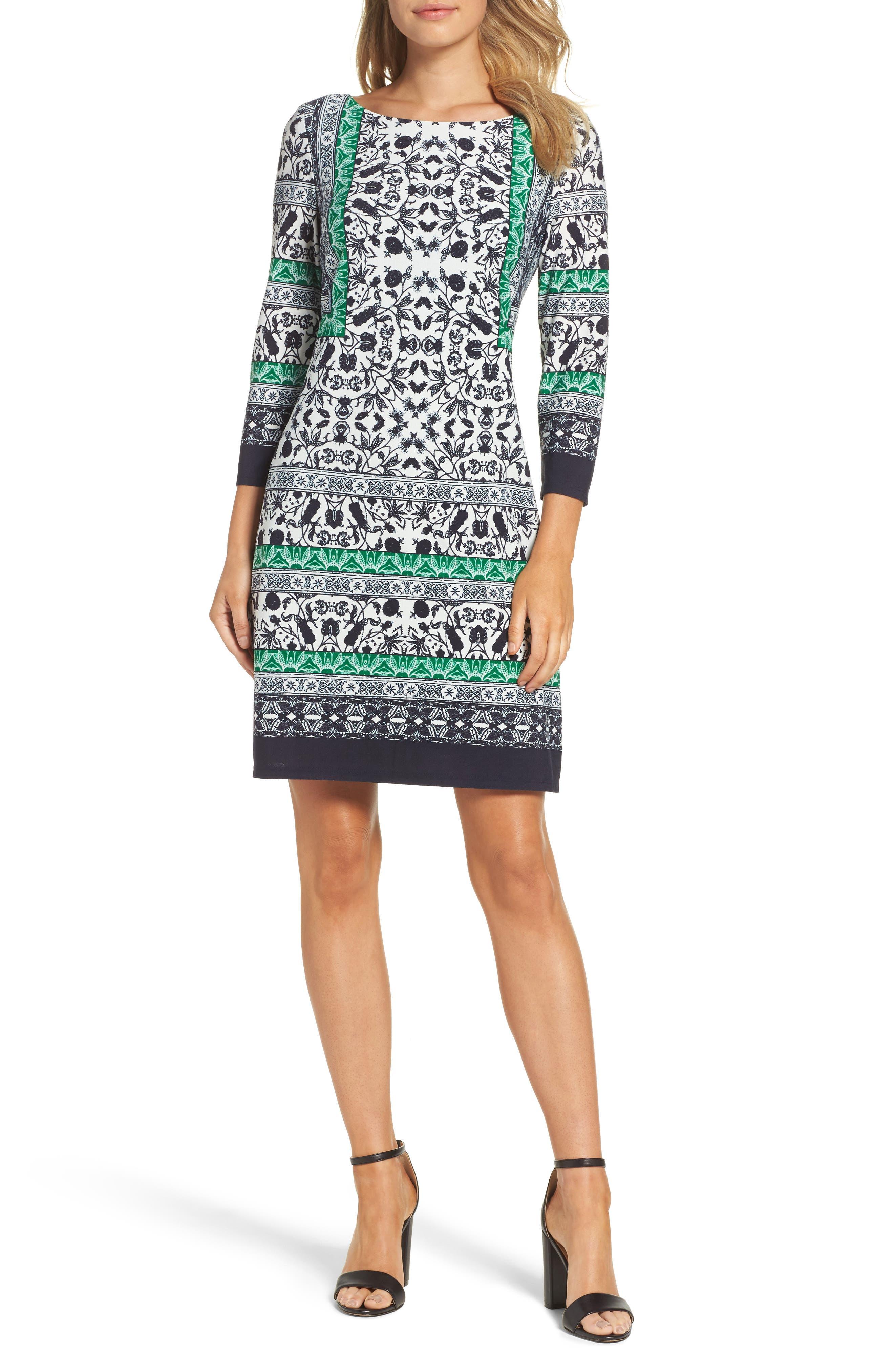 Print Sheath Dress,                         Main,                         color, 343