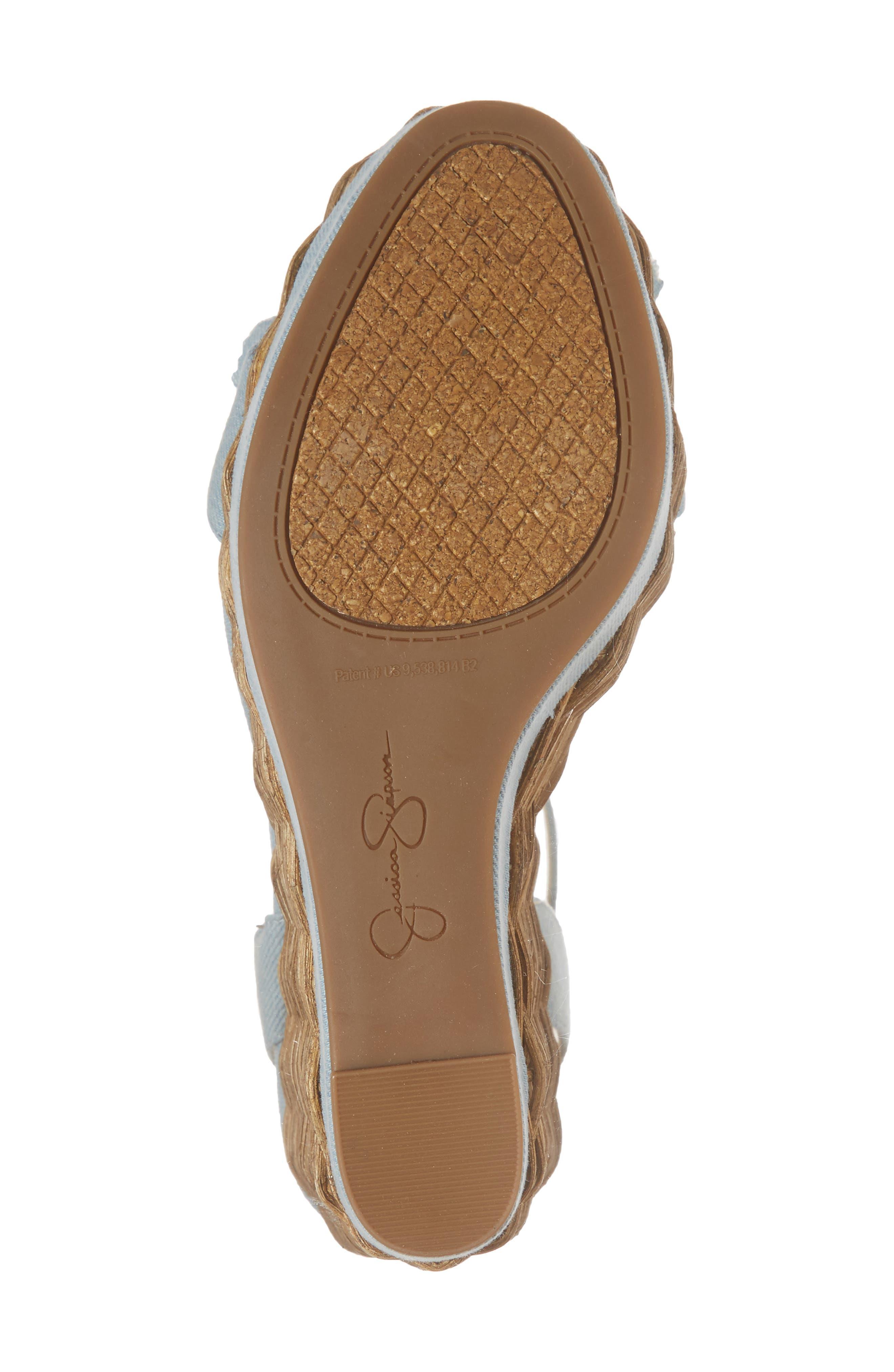 Pressa Platform Wedge Sandal,                             Alternate thumbnail 6, color,                             VINTAGE BLUE