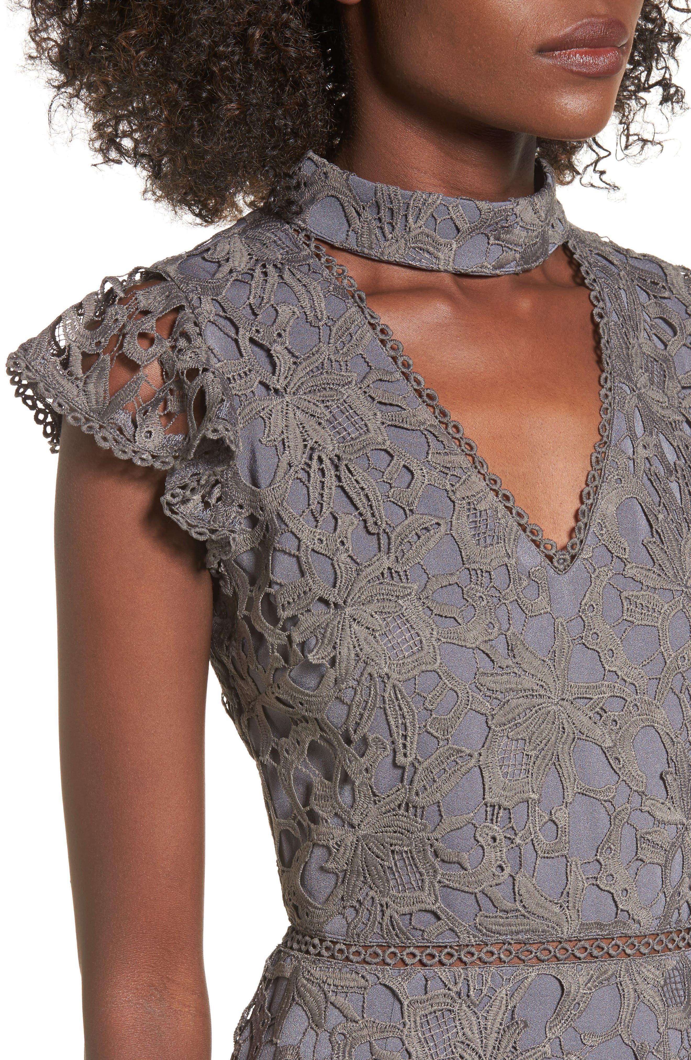 Choker Lace Dress,                             Alternate thumbnail 4, color,                             020