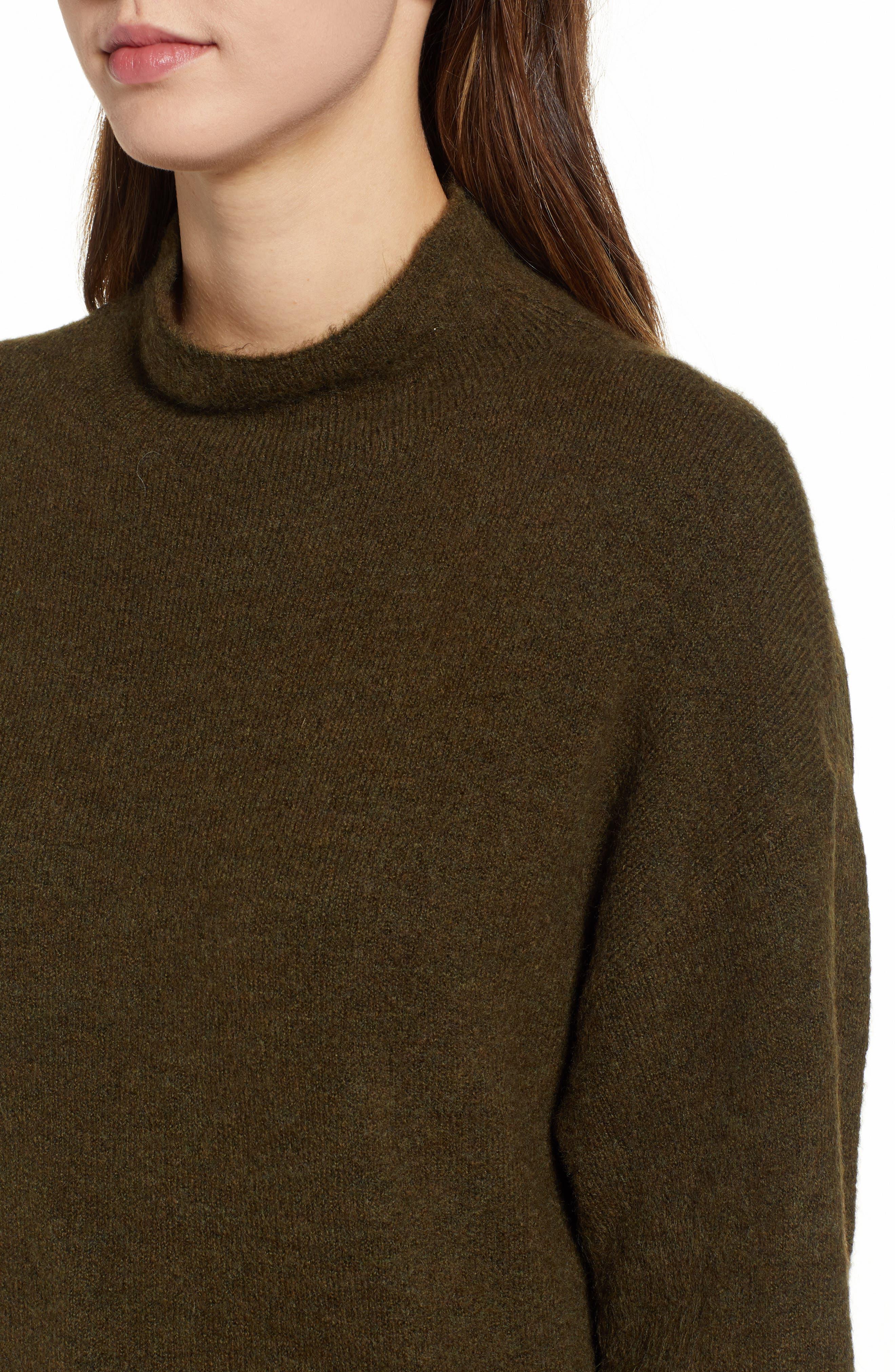 Cozy Mock Neck Sweater,                             Alternate thumbnail 4, color,                             301