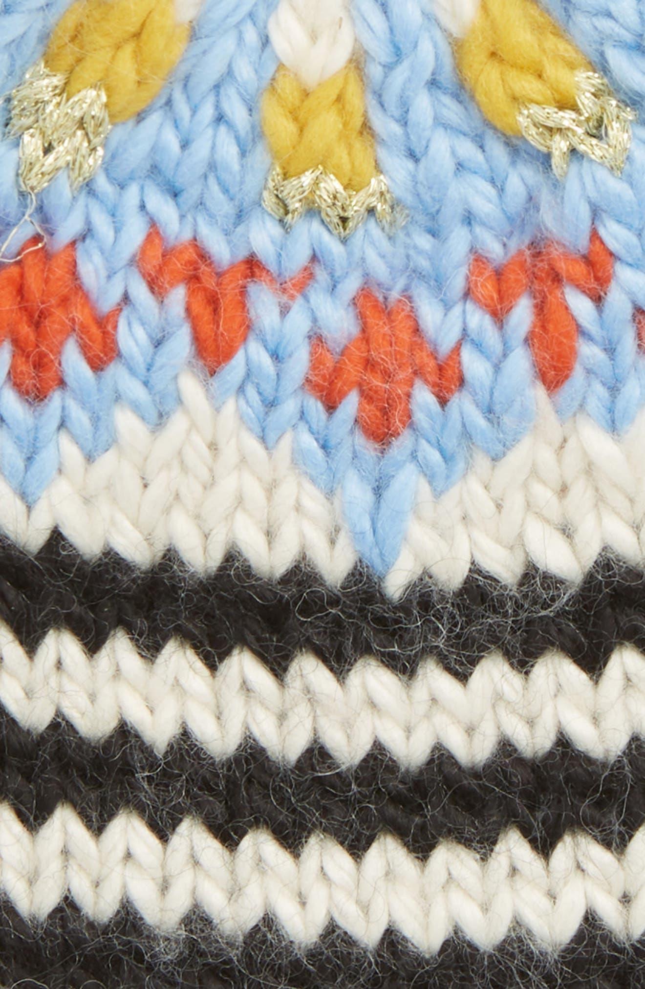 Tullamore Stripe Knit Beanie,                             Alternate thumbnail 2, color,                             001
