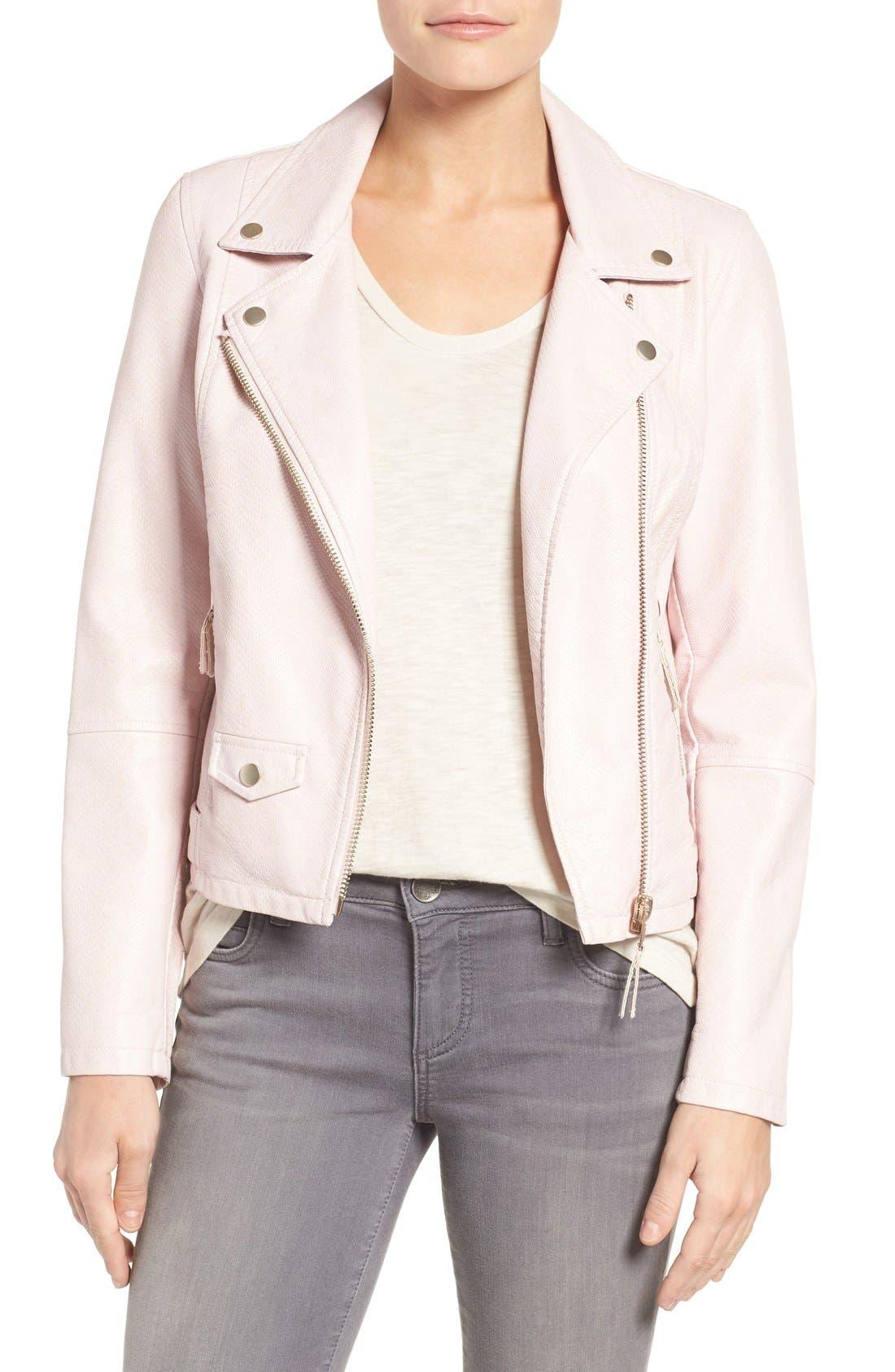 Brooke Faux Leather Moto Jacket,                             Main thumbnail 2, color,