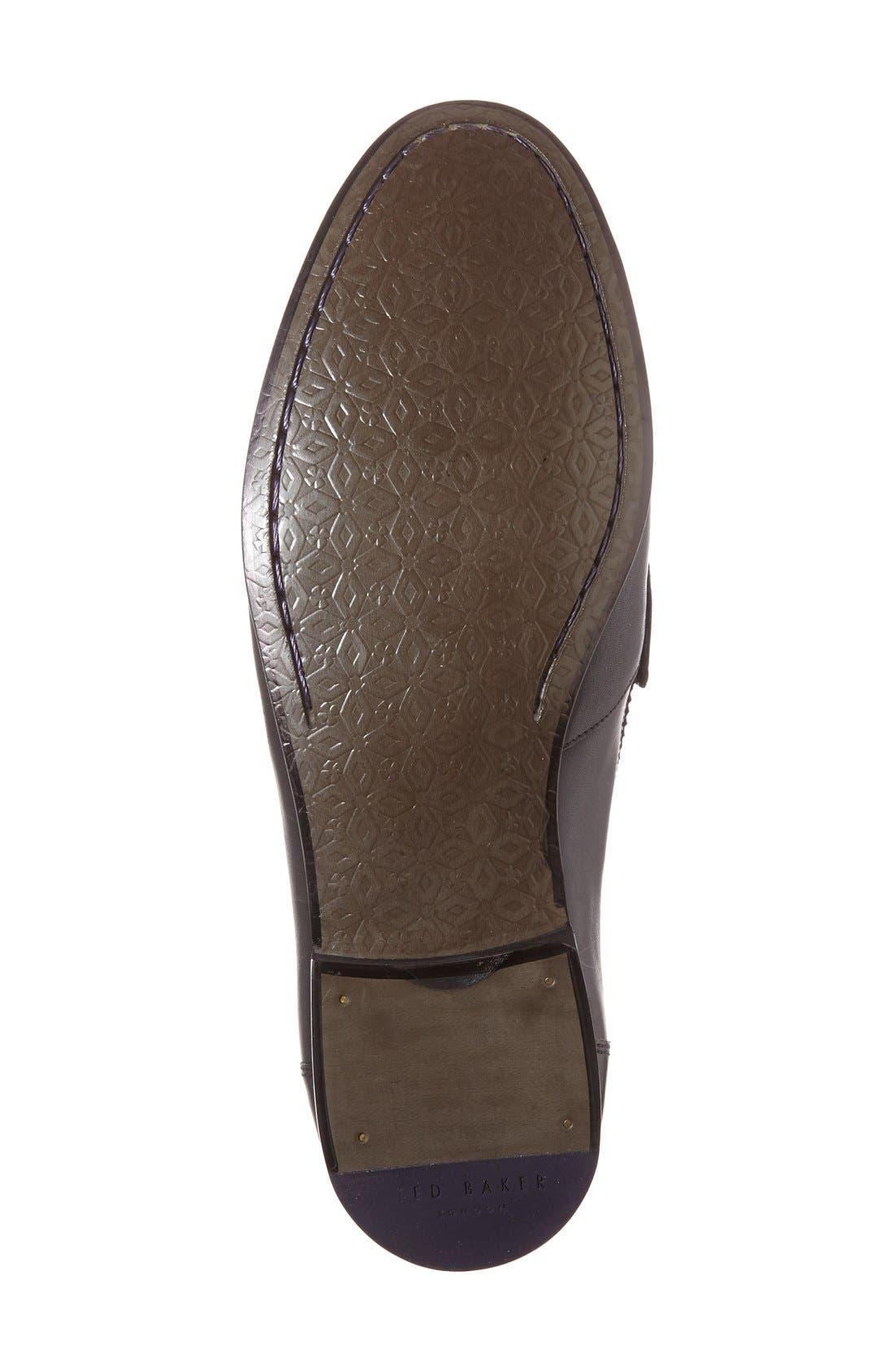'Simbaa' Tassel Loafer,                             Alternate thumbnail 5, color,                             001