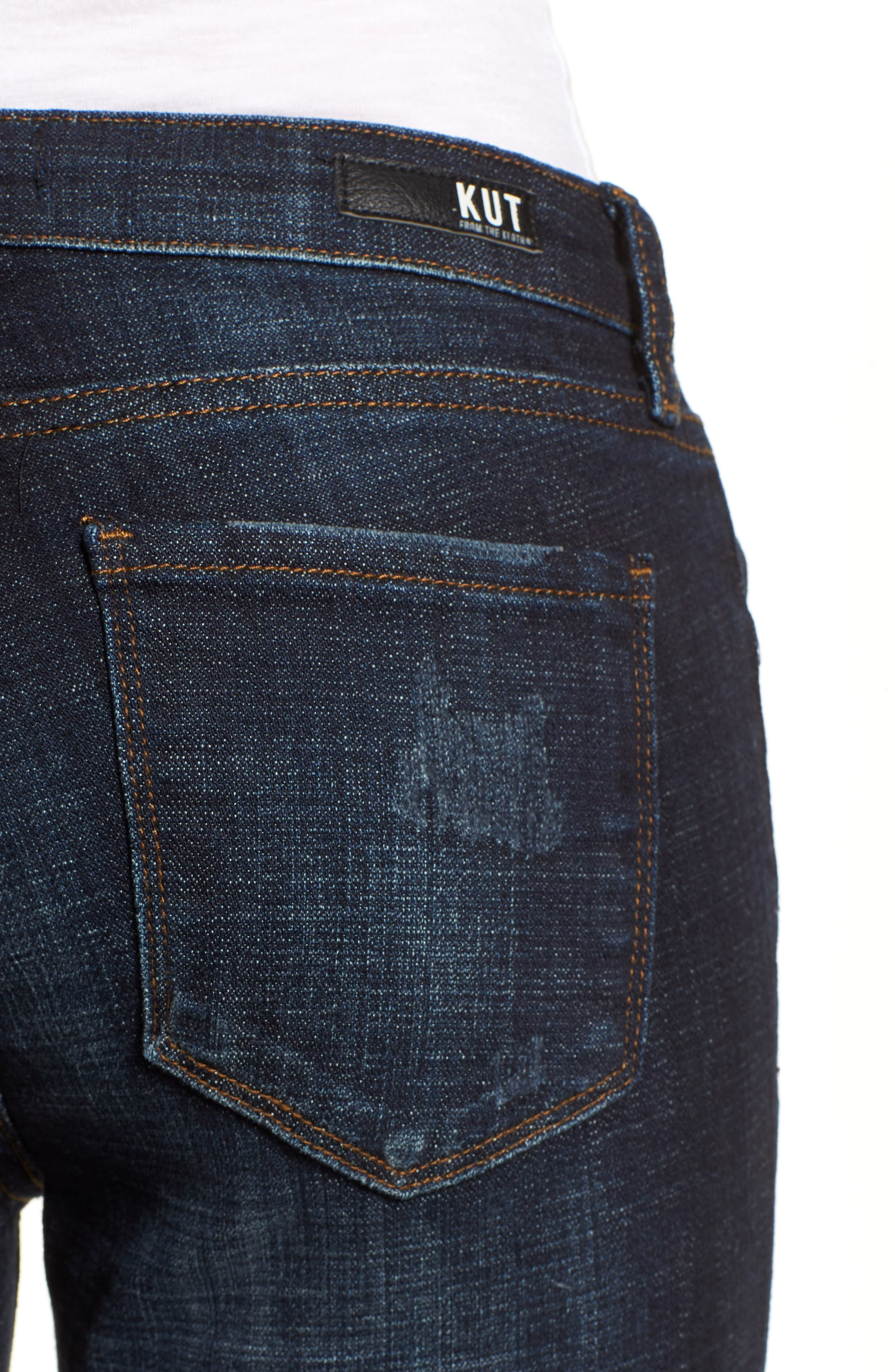 KUT from the Kloth Lauren Crop Straight Leg Jeans,                             Alternate thumbnail 4, color,                             440