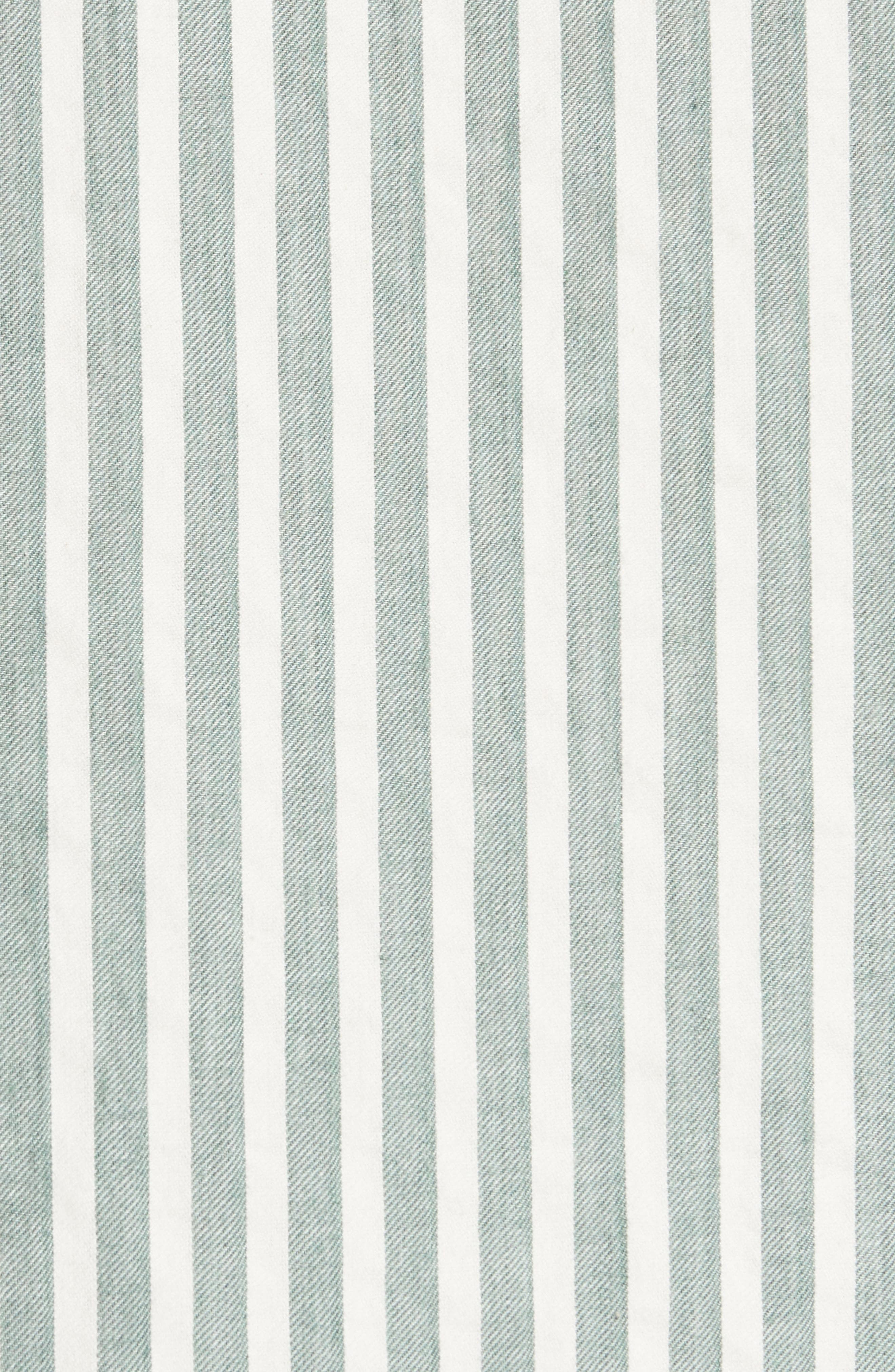 The Tie Sleeve Stripe Shirt,                             Alternate thumbnail 5, color,                             300