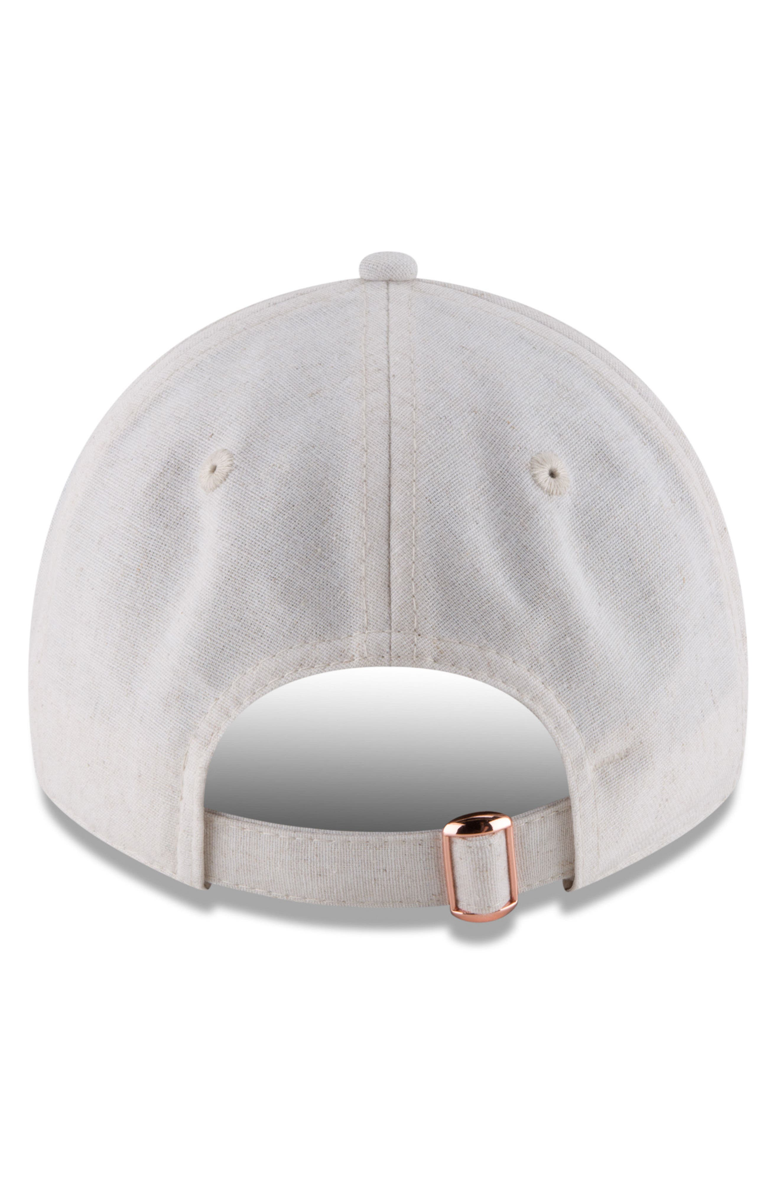 MLB Badged Black Label Linen & Cotton Ball Cap,                             Alternate thumbnail 4, color,                             CHICAGO WHITE SOX