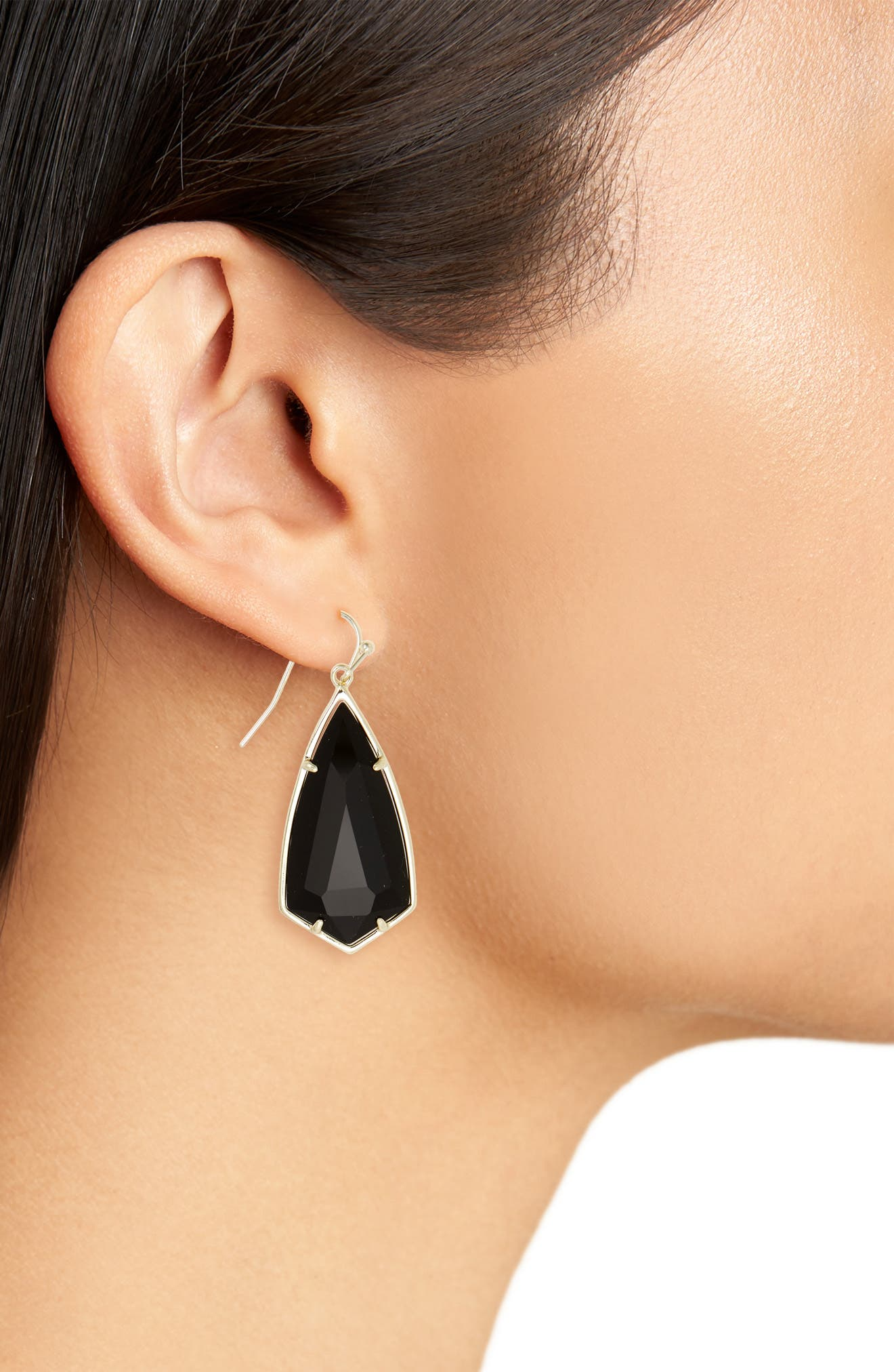 Carla Semiprecious Stone Drop Earrings,                             Alternate thumbnail 2, color,                             003