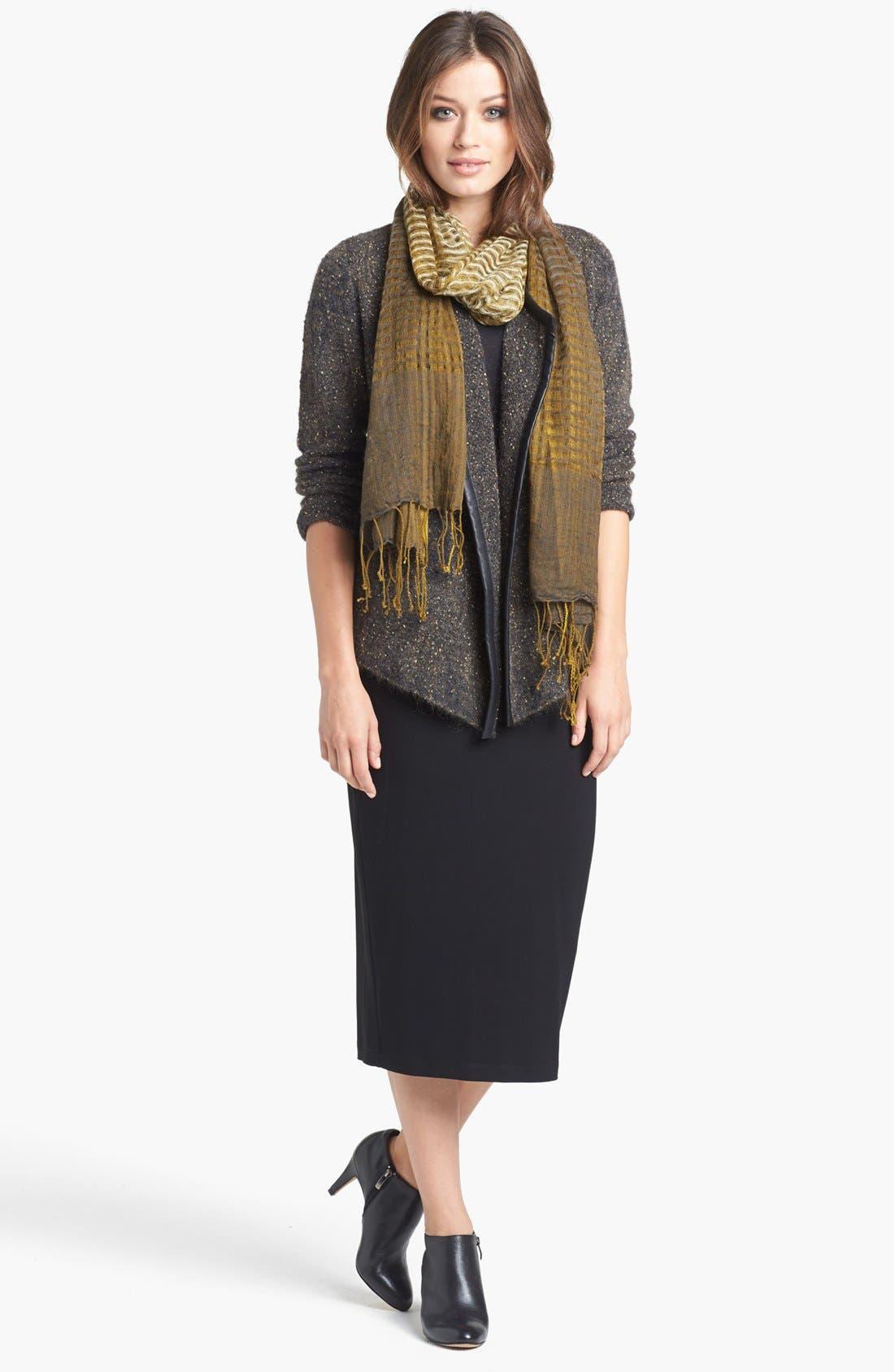 Foldover Waist Straight Skirt,                             Alternate thumbnail 5, color,                             001