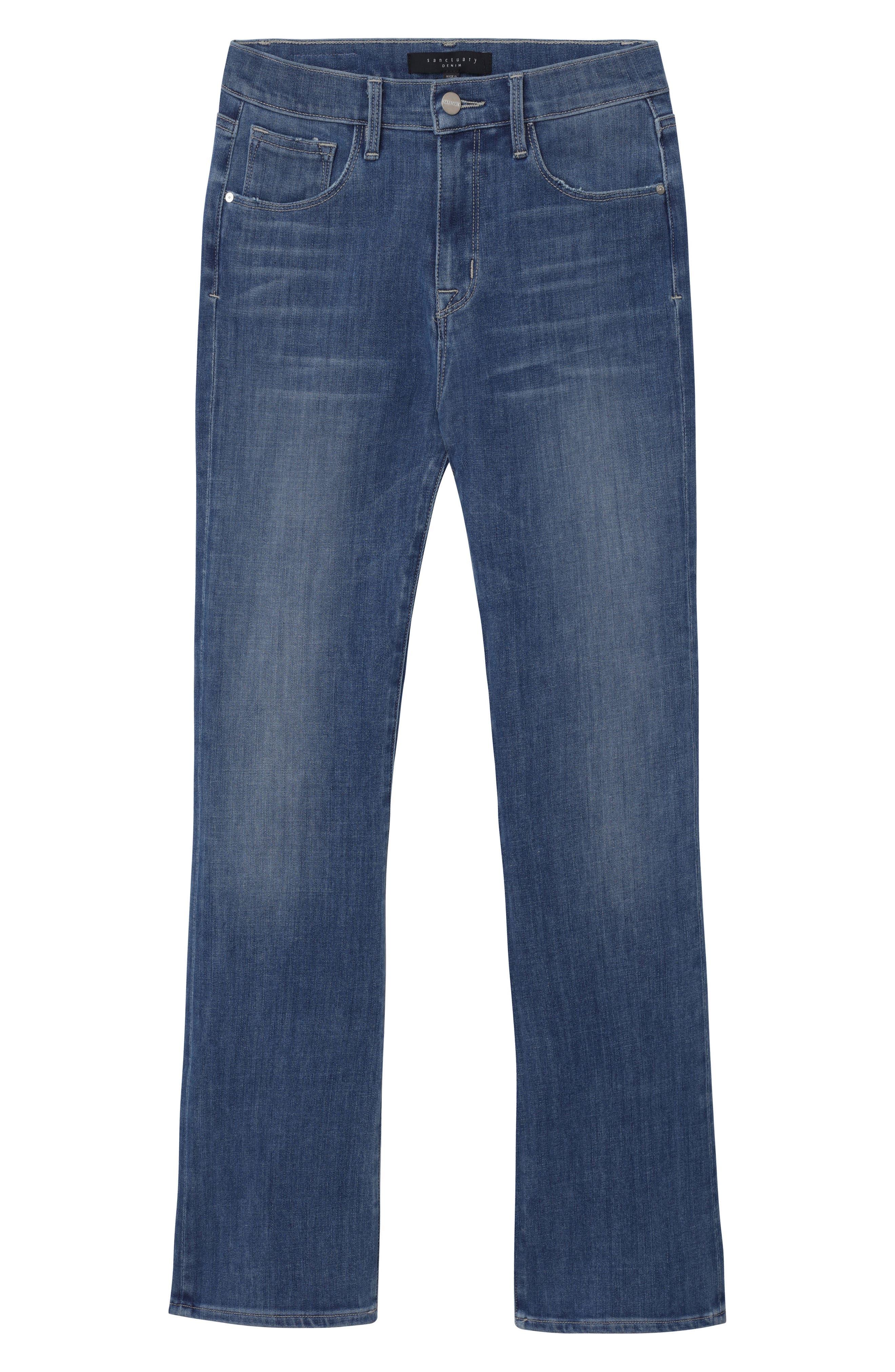 Robbie Crop Flare Jeans,                             Alternate thumbnail 8, color,