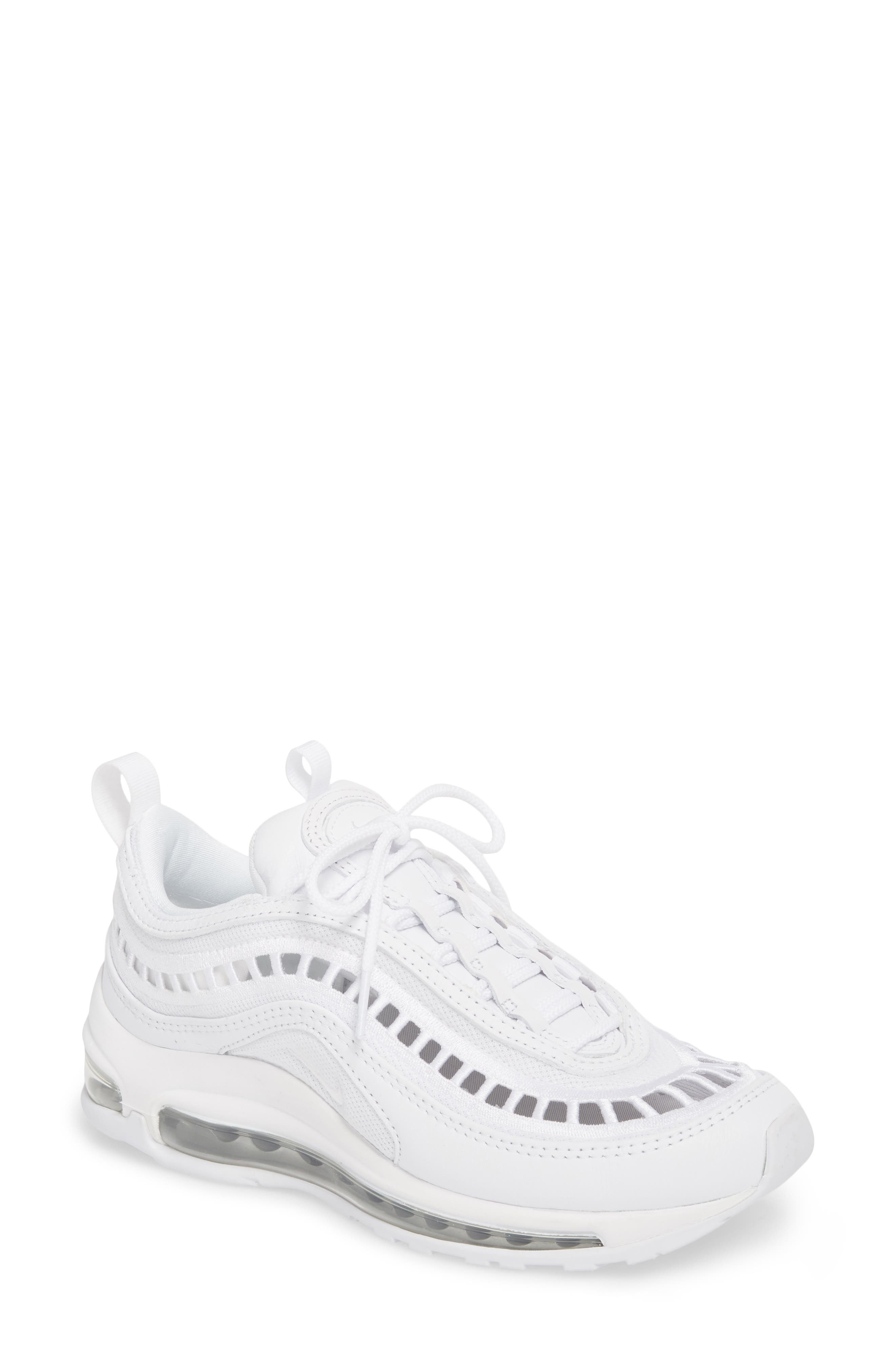 Air Max 97 Ultra '17 SI Sneaker,                             Main thumbnail 1, color,                             WHITE/ WHITE/ VAST GREY
