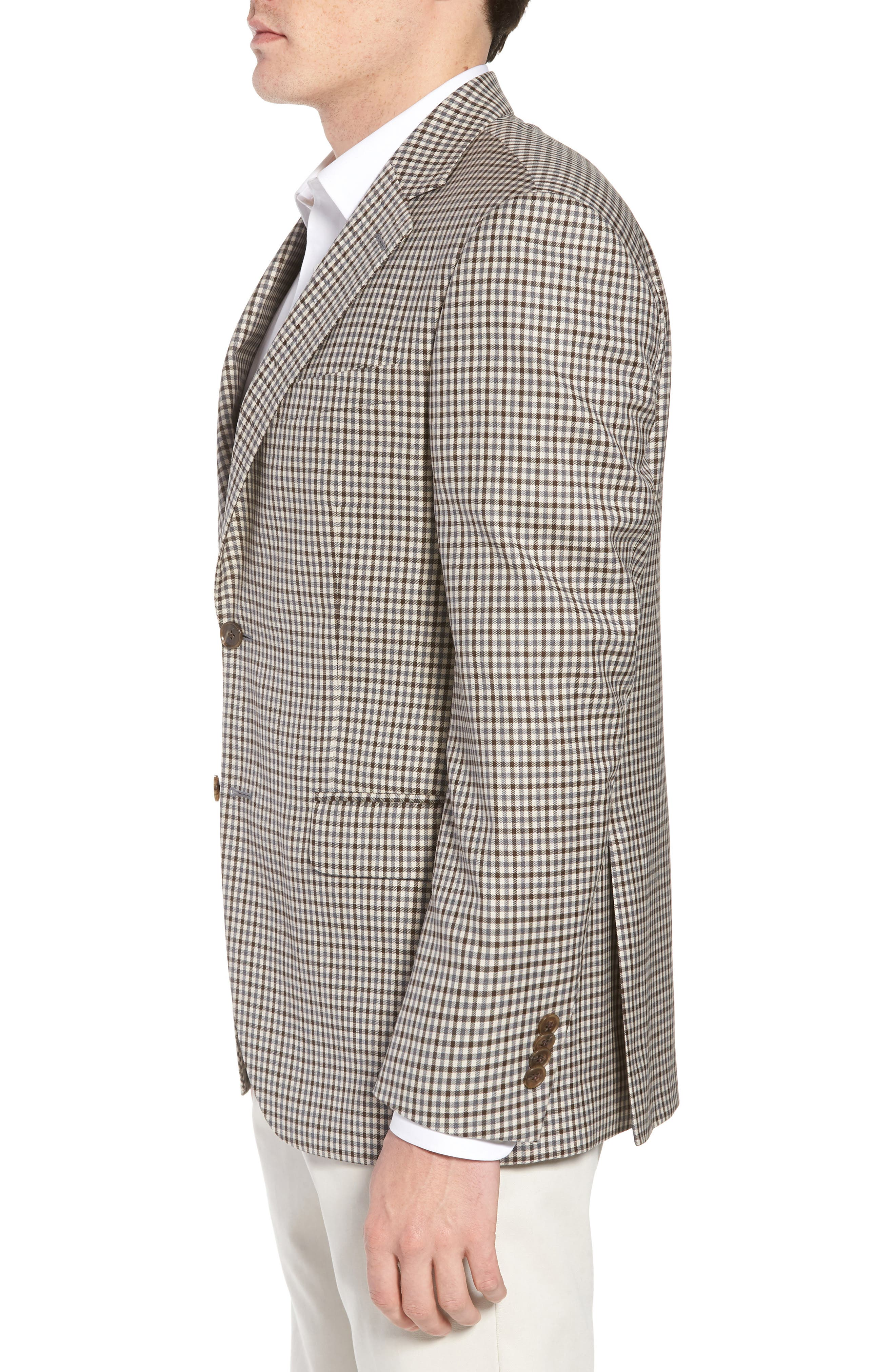 Classic Fit Check Wool Sport Coat,                             Alternate thumbnail 3, color,                             101