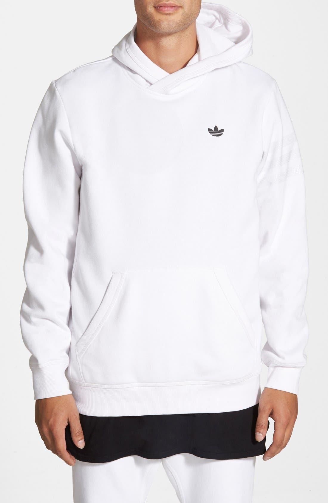 ADIDAS ORIGINALS 'Sport Luxe' Hoodie, Main, color, 100