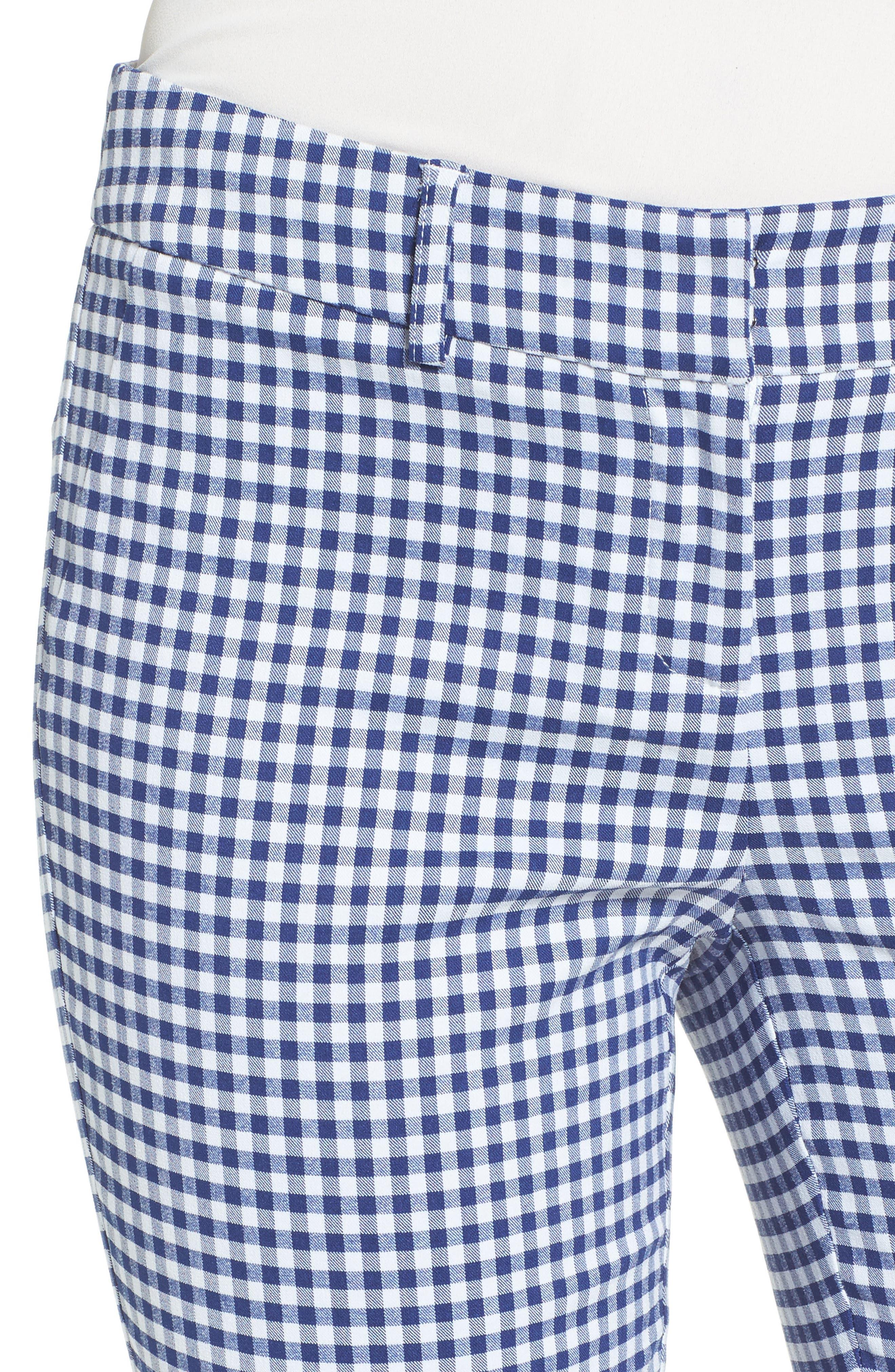 Crop Stretch Cotton Pants,                             Alternate thumbnail 79, color,