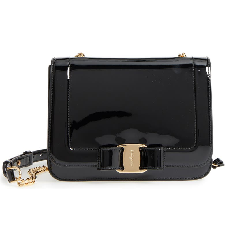 Salvatore Ferragamo Vara Patent Leather Shoulder Bag  974cc4bf5981e