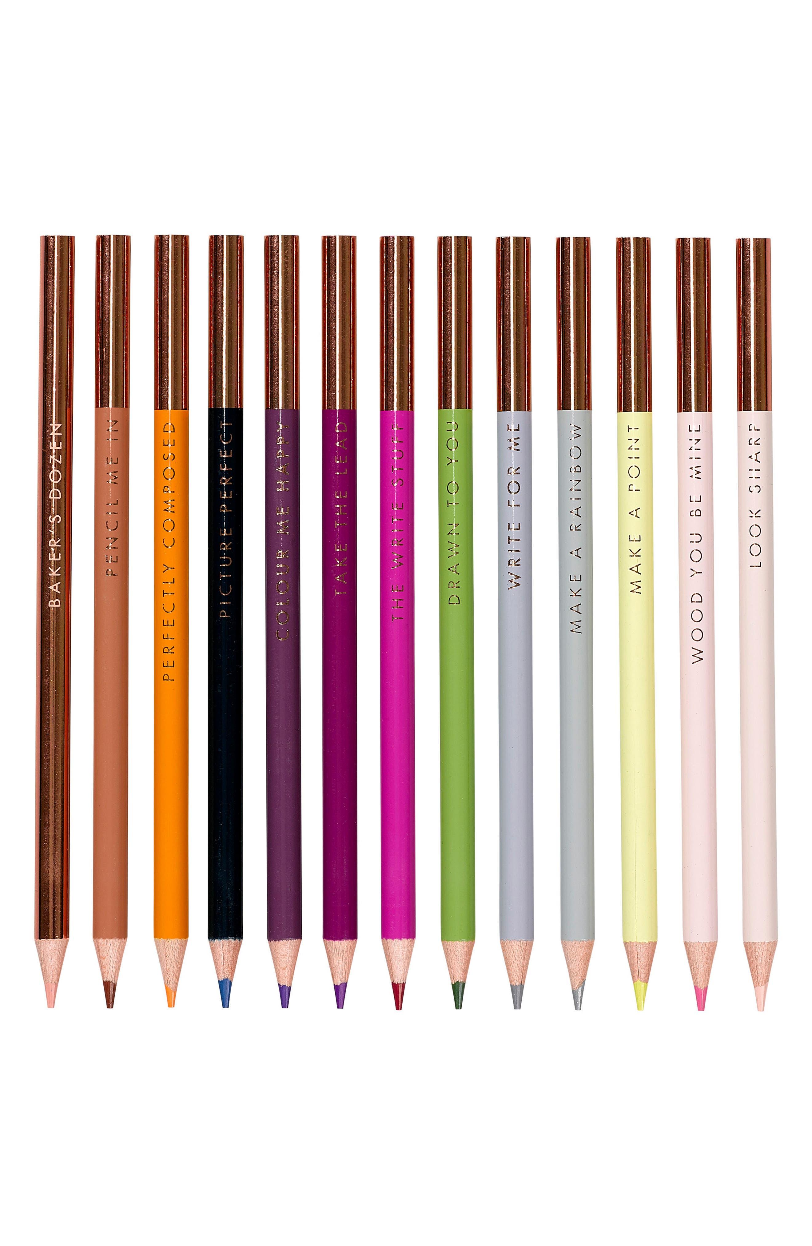 Baker's Dozen Set of 13 Coloring Pencils,                             Alternate thumbnail 3, color,                             650