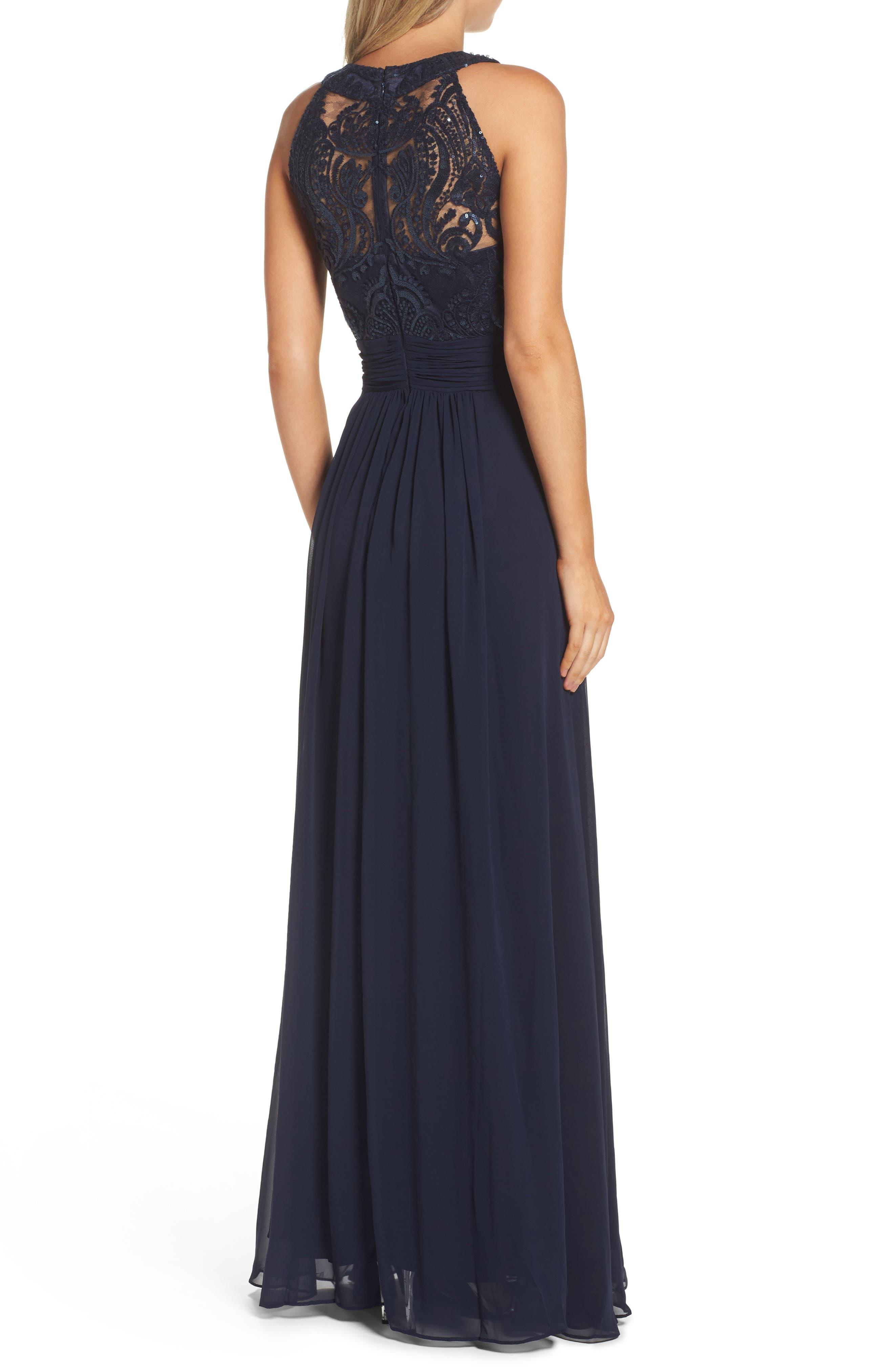 Lace Bodice Gown,                             Alternate thumbnail 8, color,