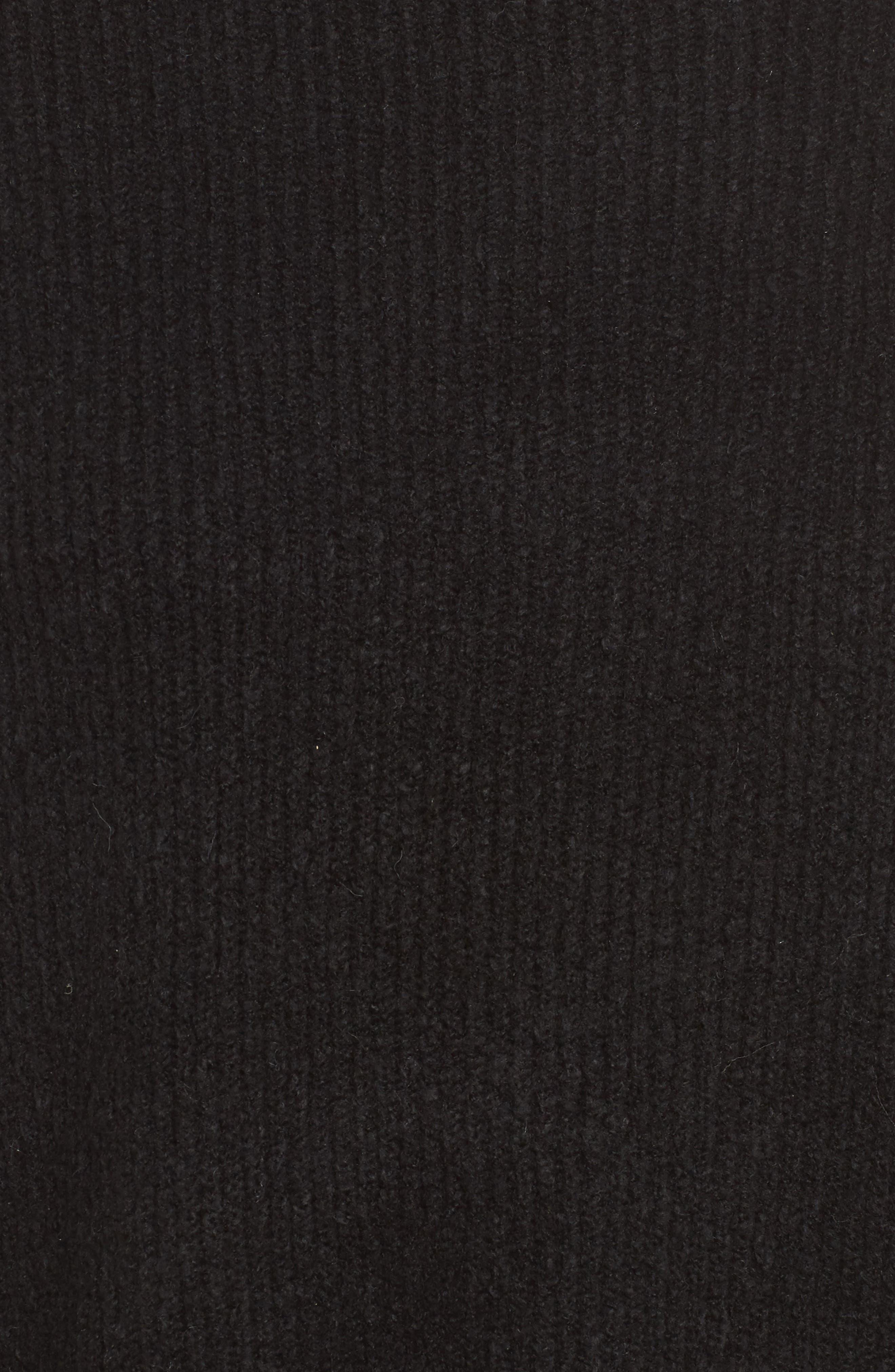 Urban Flossy Turtleneck Sweater,                             Alternate thumbnail 5, color,                             001