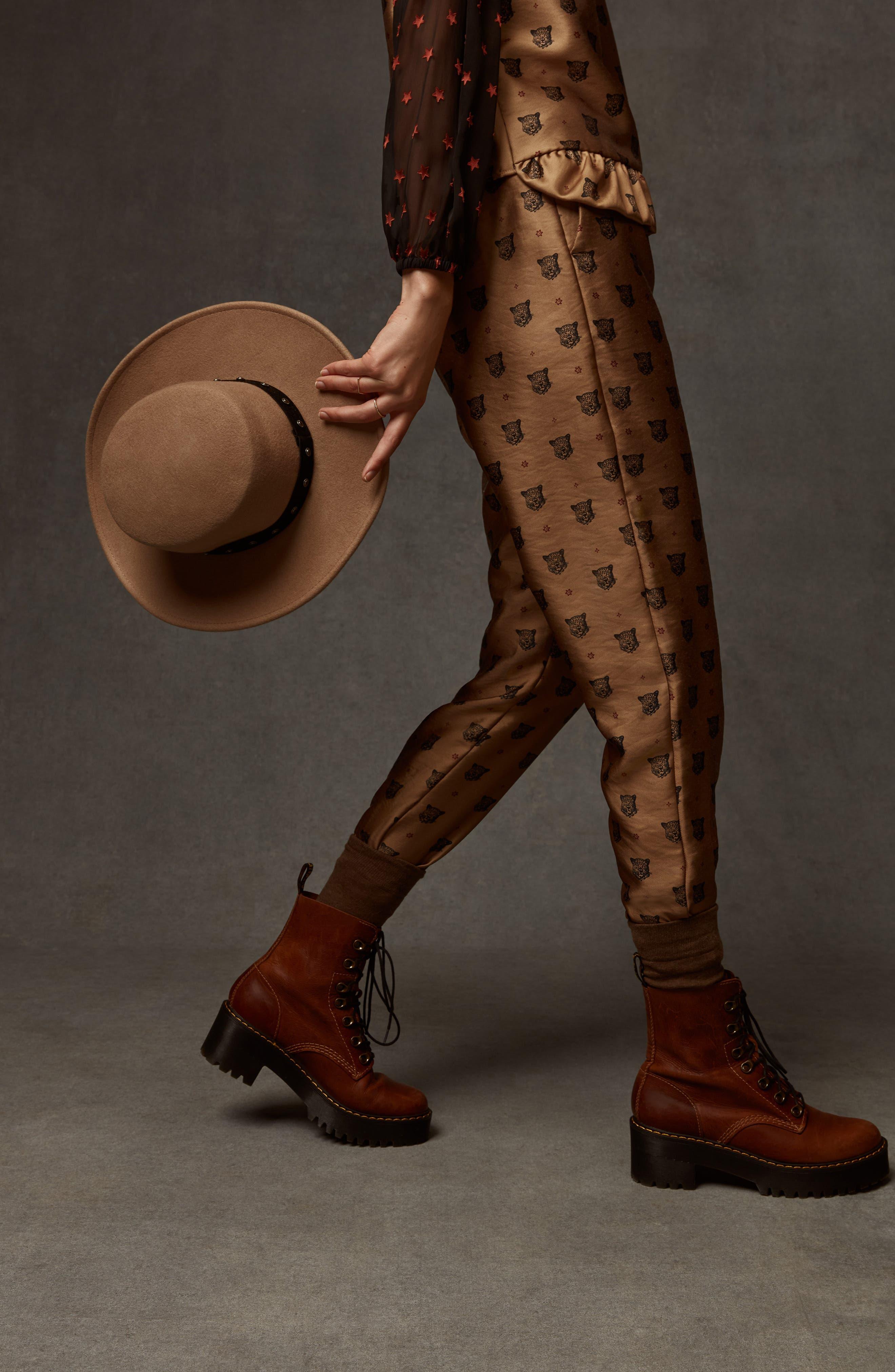 Tailored Leopard Pants,                             Alternate thumbnail 6, color,                             GOLD W/ LEOPARD PRINT