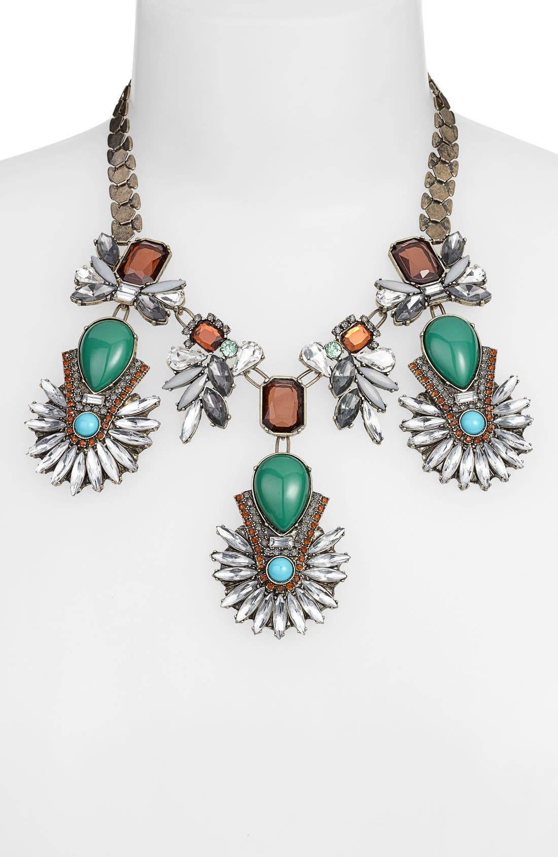 Multi Stone Necklace,                             Alternate thumbnail 2, color,                             313