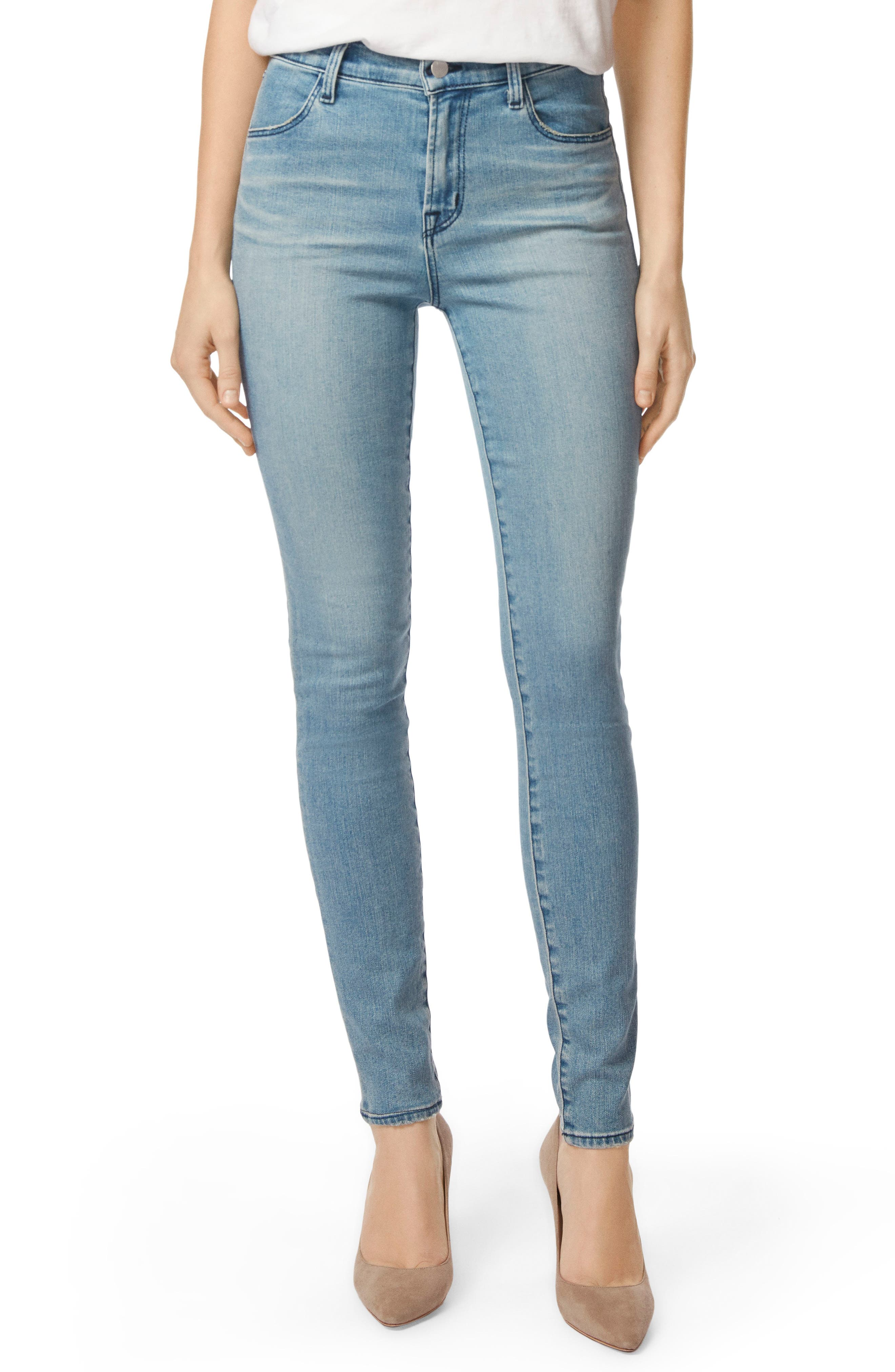 Maria High Waist Skinny Jeans,                         Main,                         color, 407