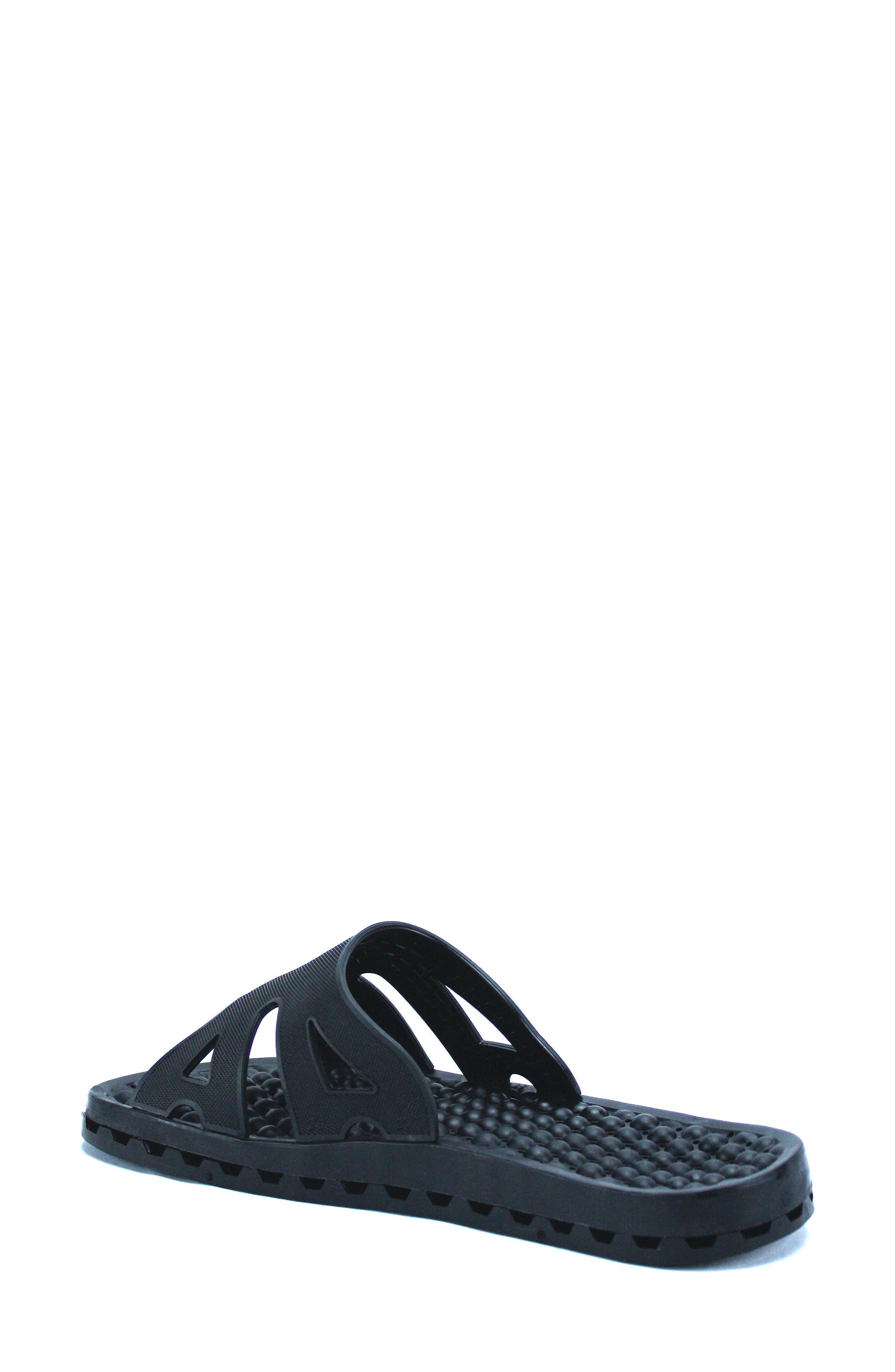 Regatta Ice Slide Sandal,                             Alternate thumbnail 2, color,                             SOLID BLACK