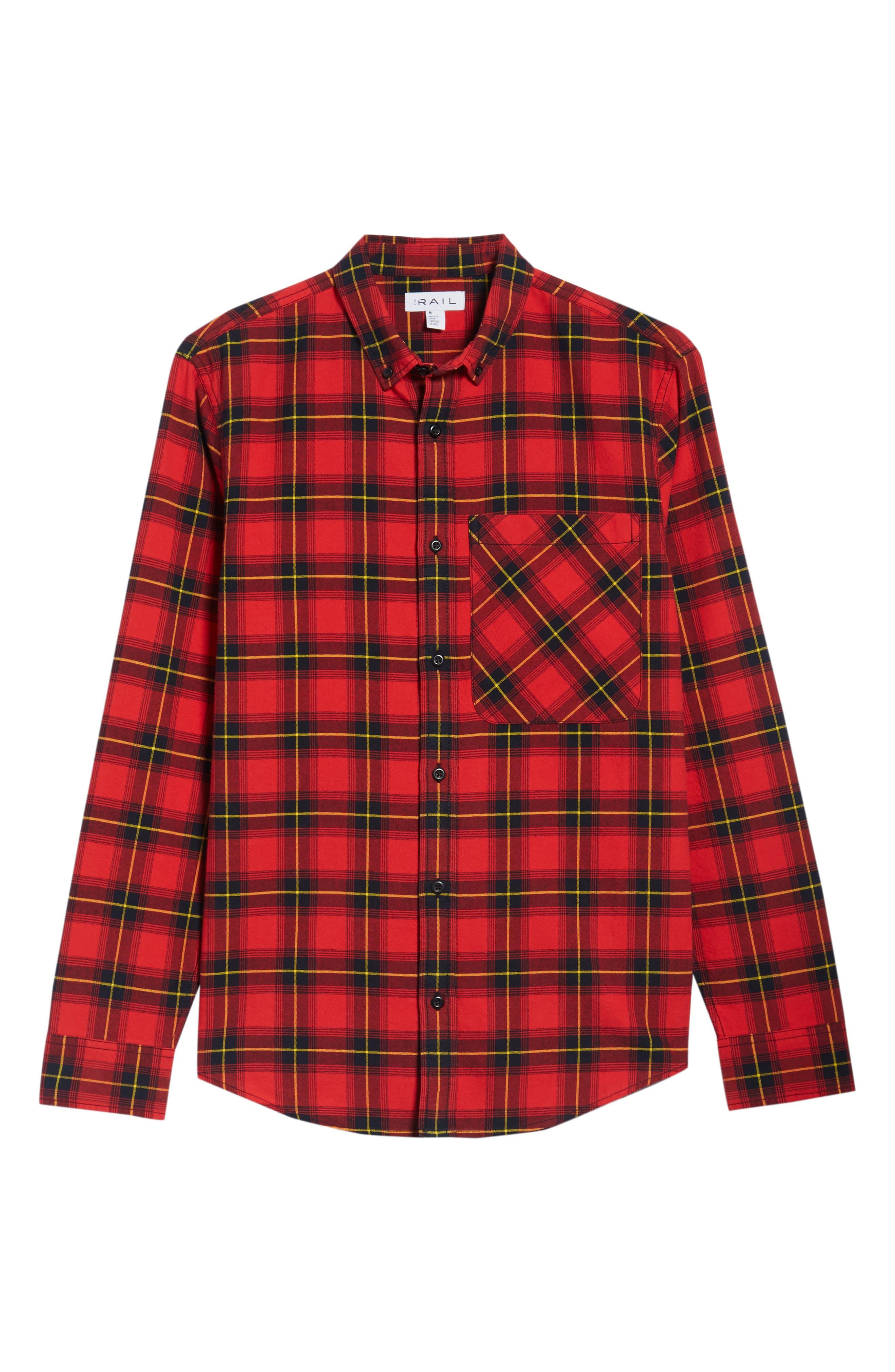 Plaid Oversize Pocket Sport Shirt,                             Alternate thumbnail 6, color,                             610