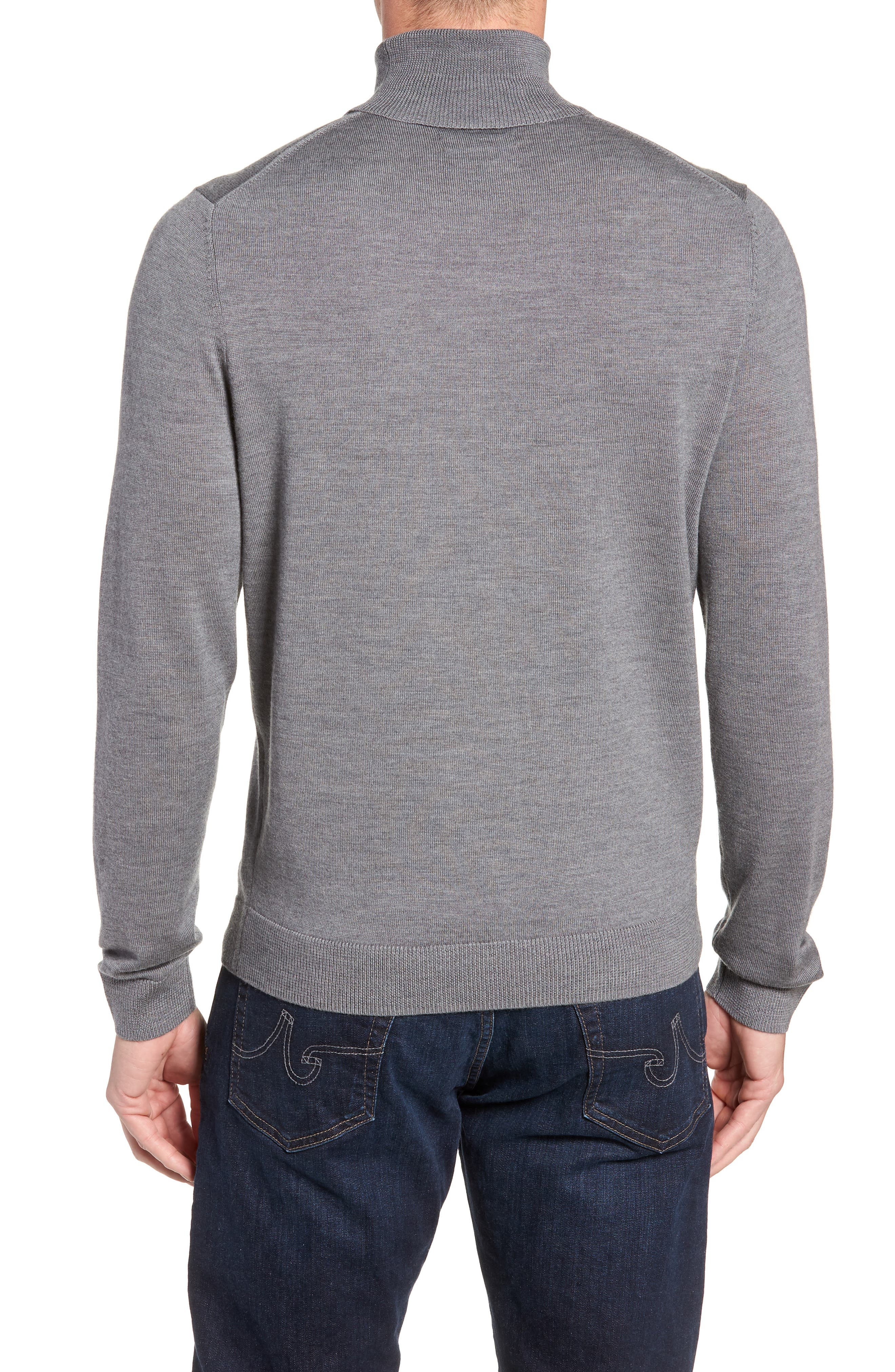 Merino Wool Turtleneck Sweater,                             Alternate thumbnail 8, color,