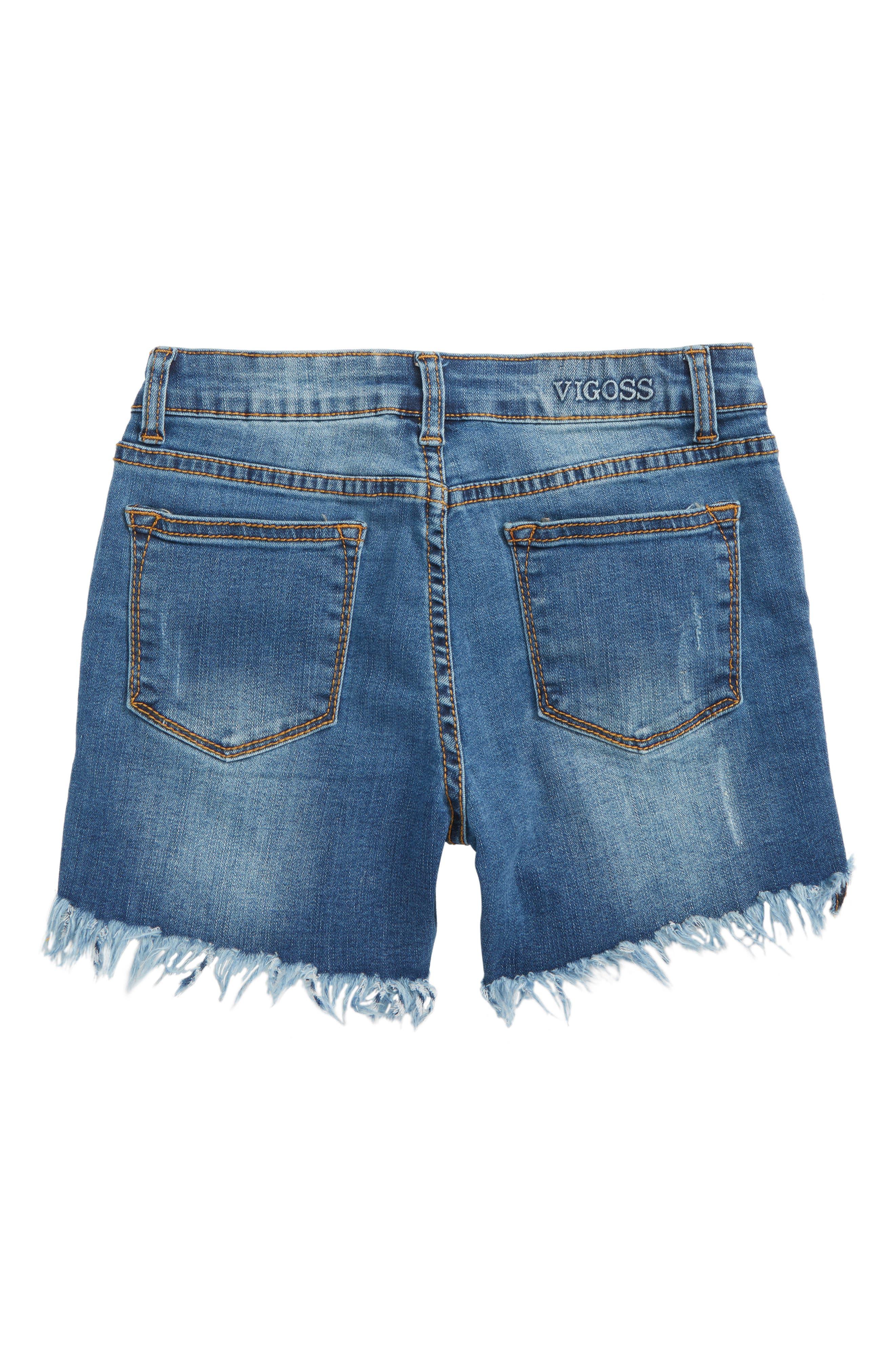 Bermidi Frayed Step Hem Shorts,                             Alternate thumbnail 2, color,