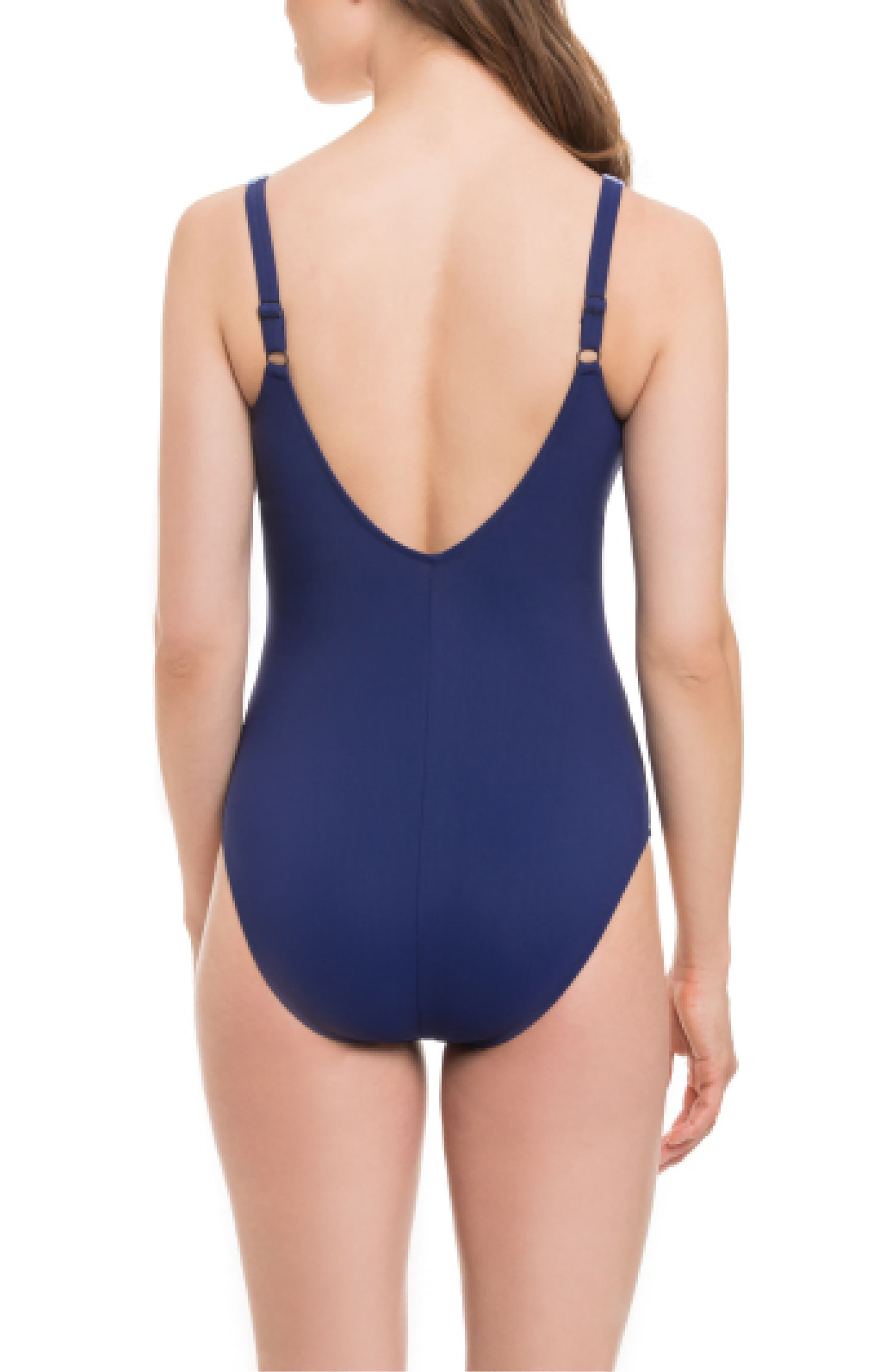 Tapestry One-Piece Swimsuit,                             Alternate thumbnail 2, color,
