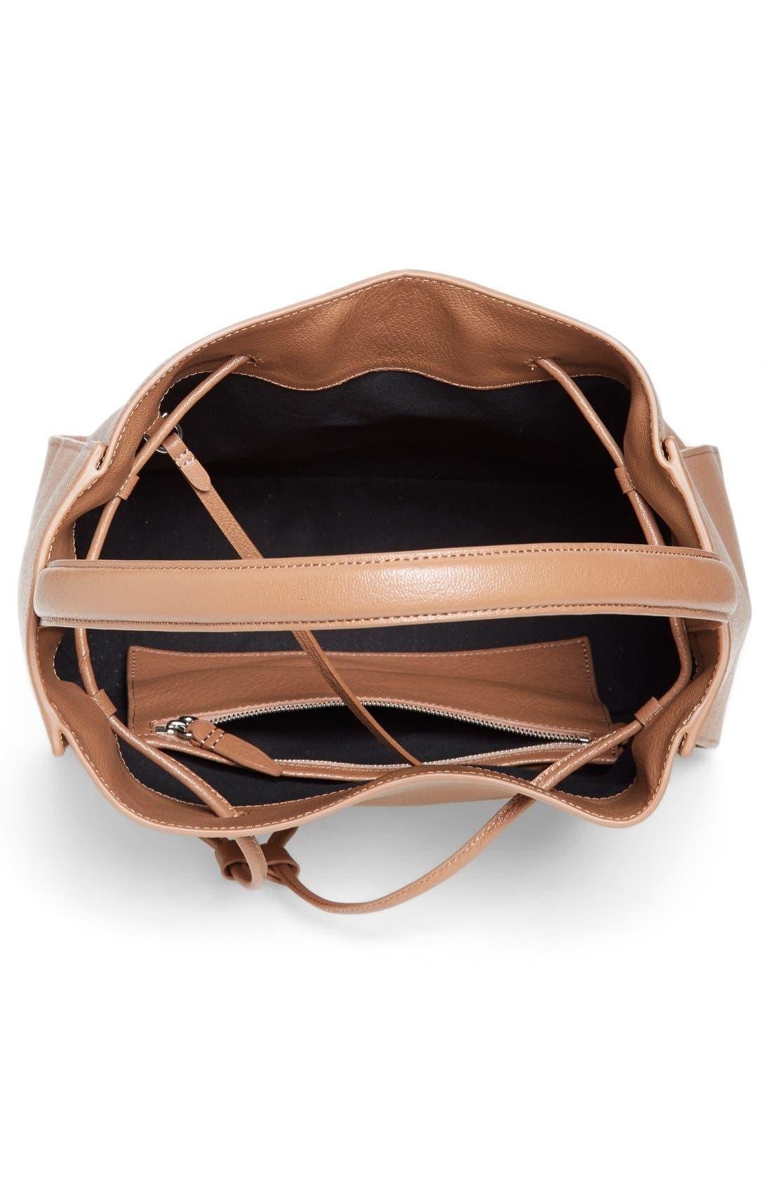 'Large Soleil' Leather Bucket Bag,                             Alternate thumbnail 15, color,