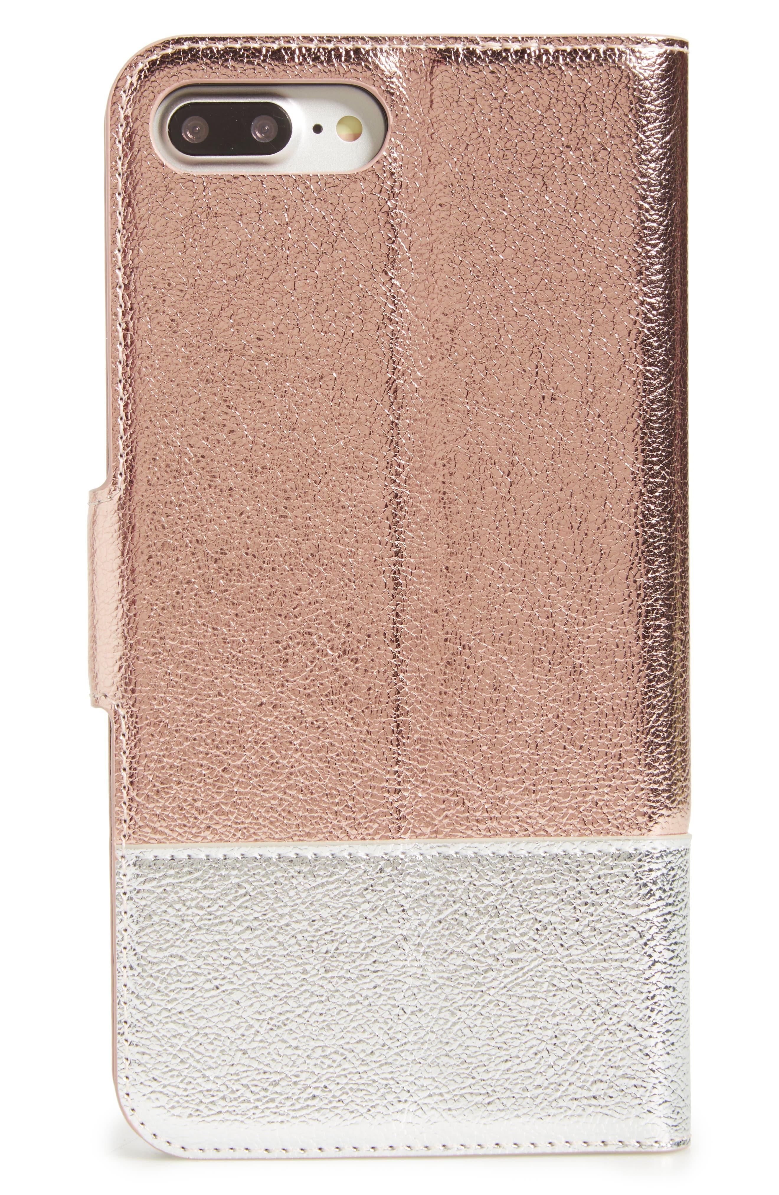 metallic leather iPhone 7/8 & 7/8 Plus case,                             Alternate thumbnail 3, color,                             650