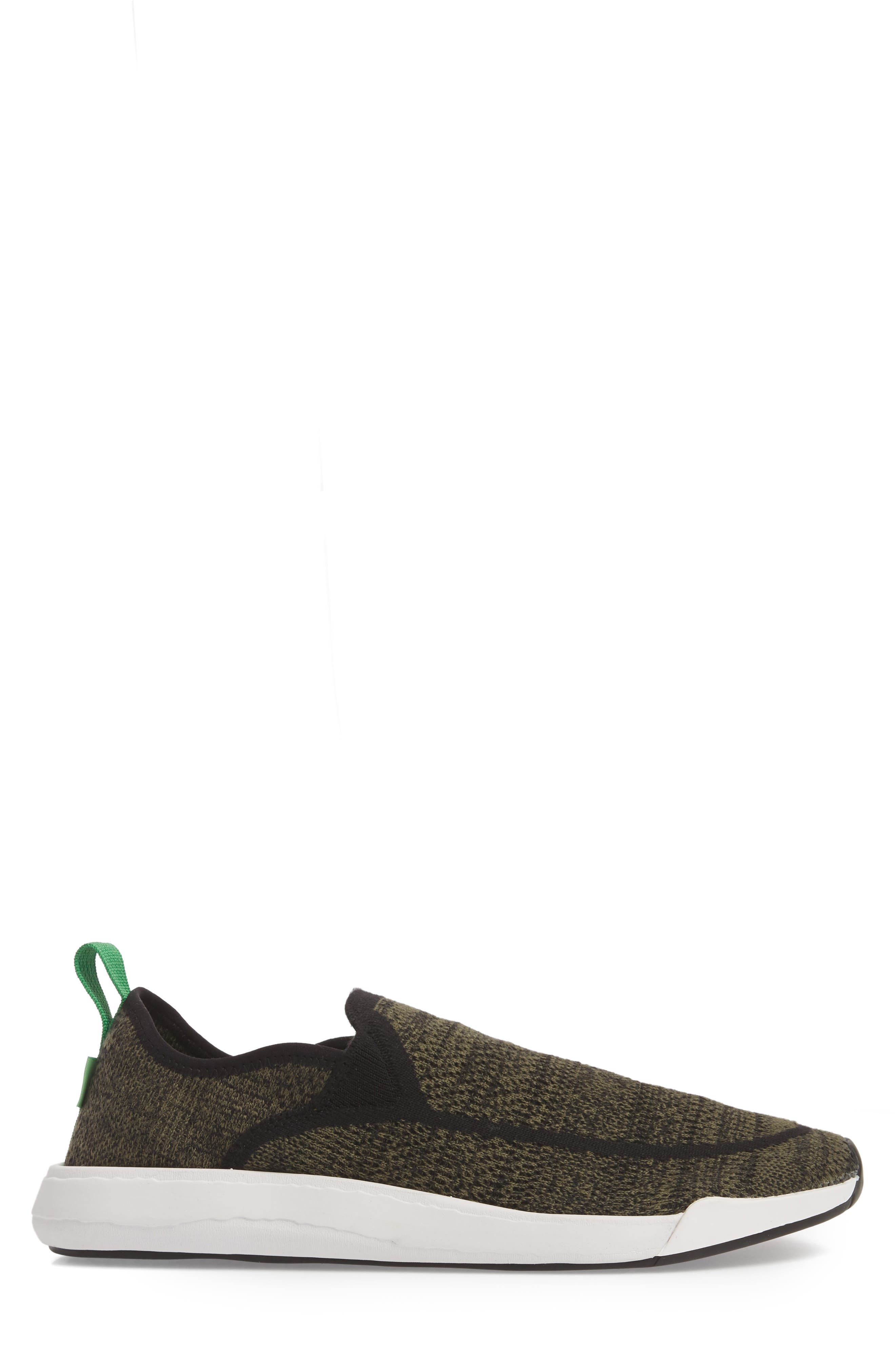 Chiba Quest Knit Slip-On Sneaker,                             Alternate thumbnail 3, color,                             OLIVE
