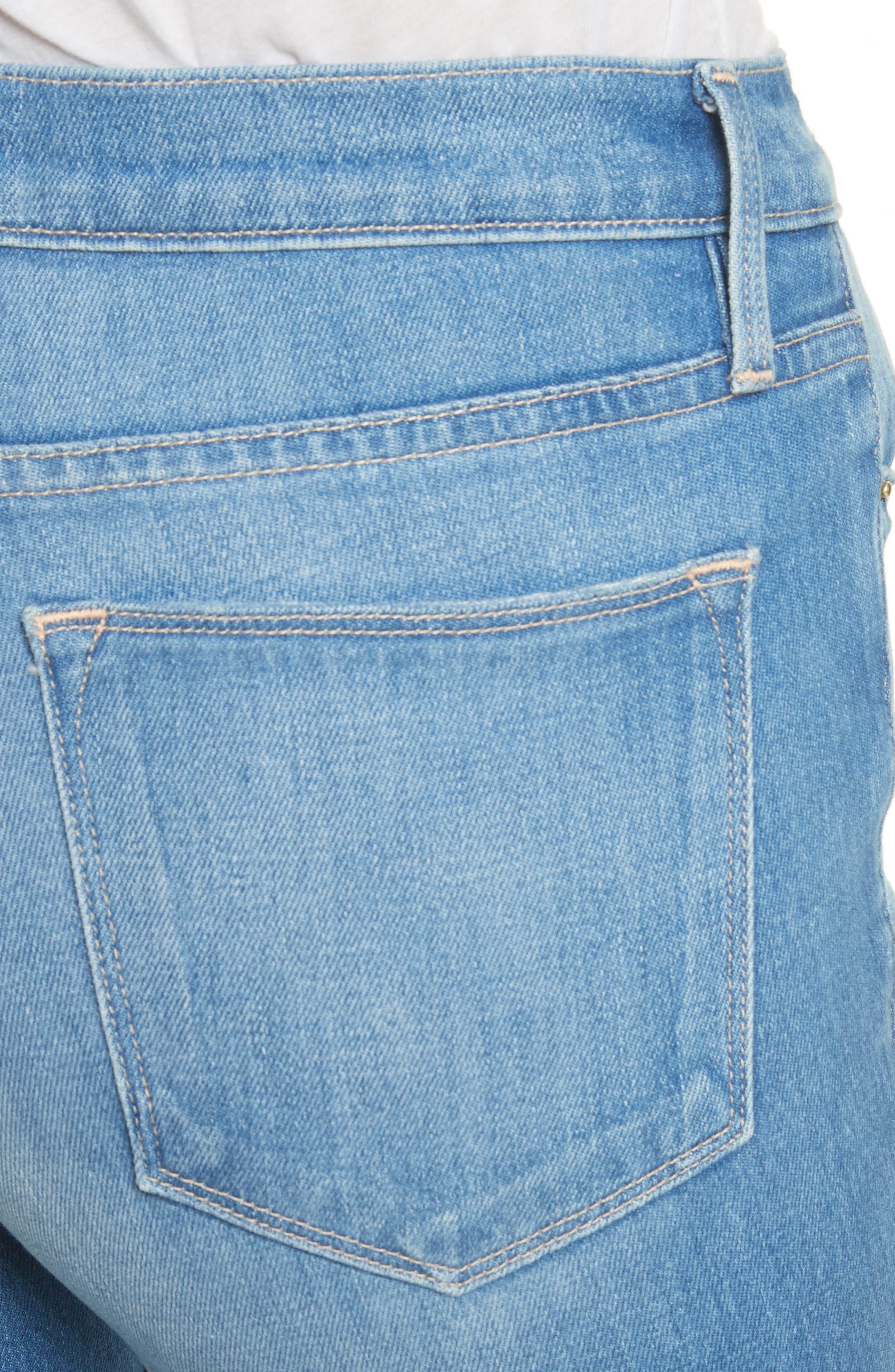 Le High Flare Jeans,                             Alternate thumbnail 4, color,                             BRIGHTWALTON