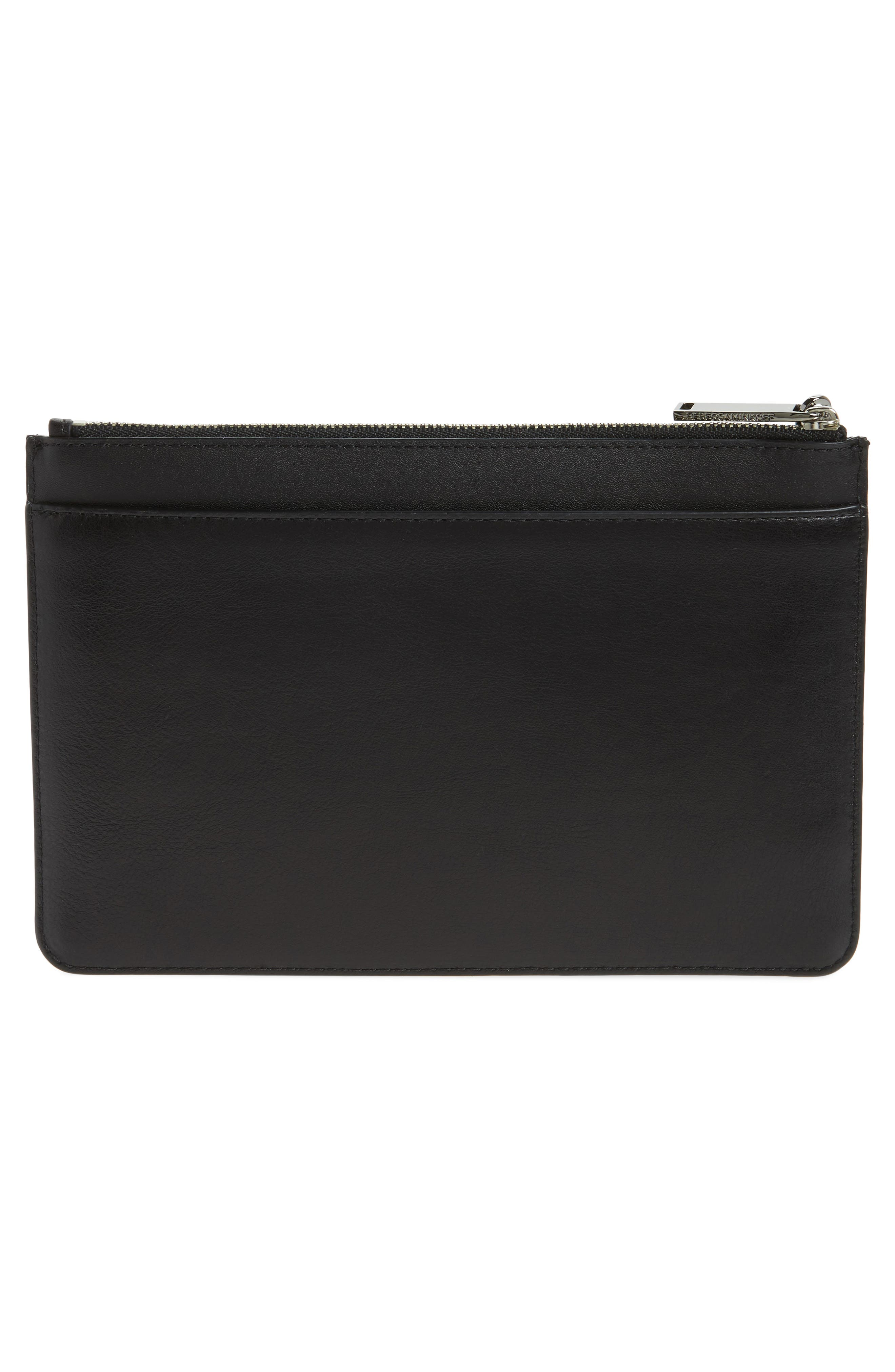 Leather Wristlet,                             Alternate thumbnail 3, color,                             001