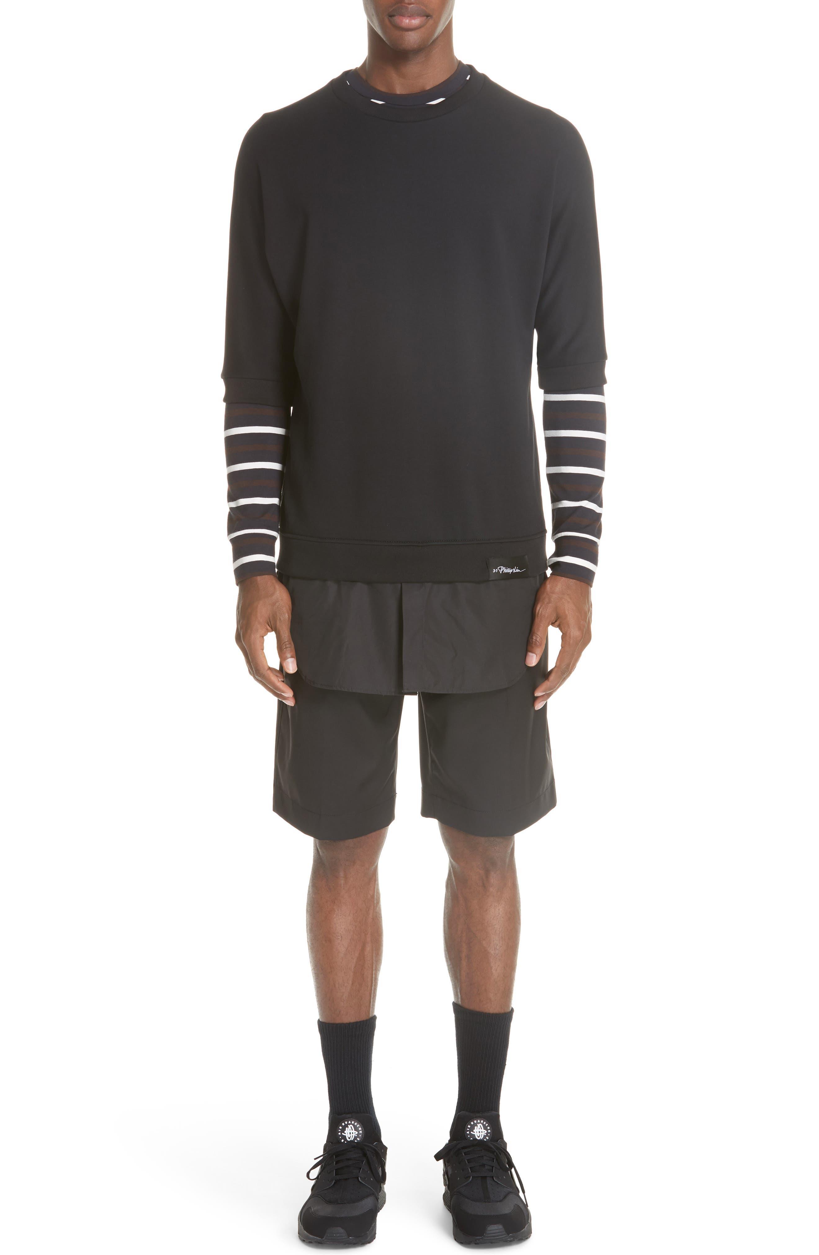 Technical Stripe Long Sleeve T-Shirt,                             Alternate thumbnail 7, color,                             200