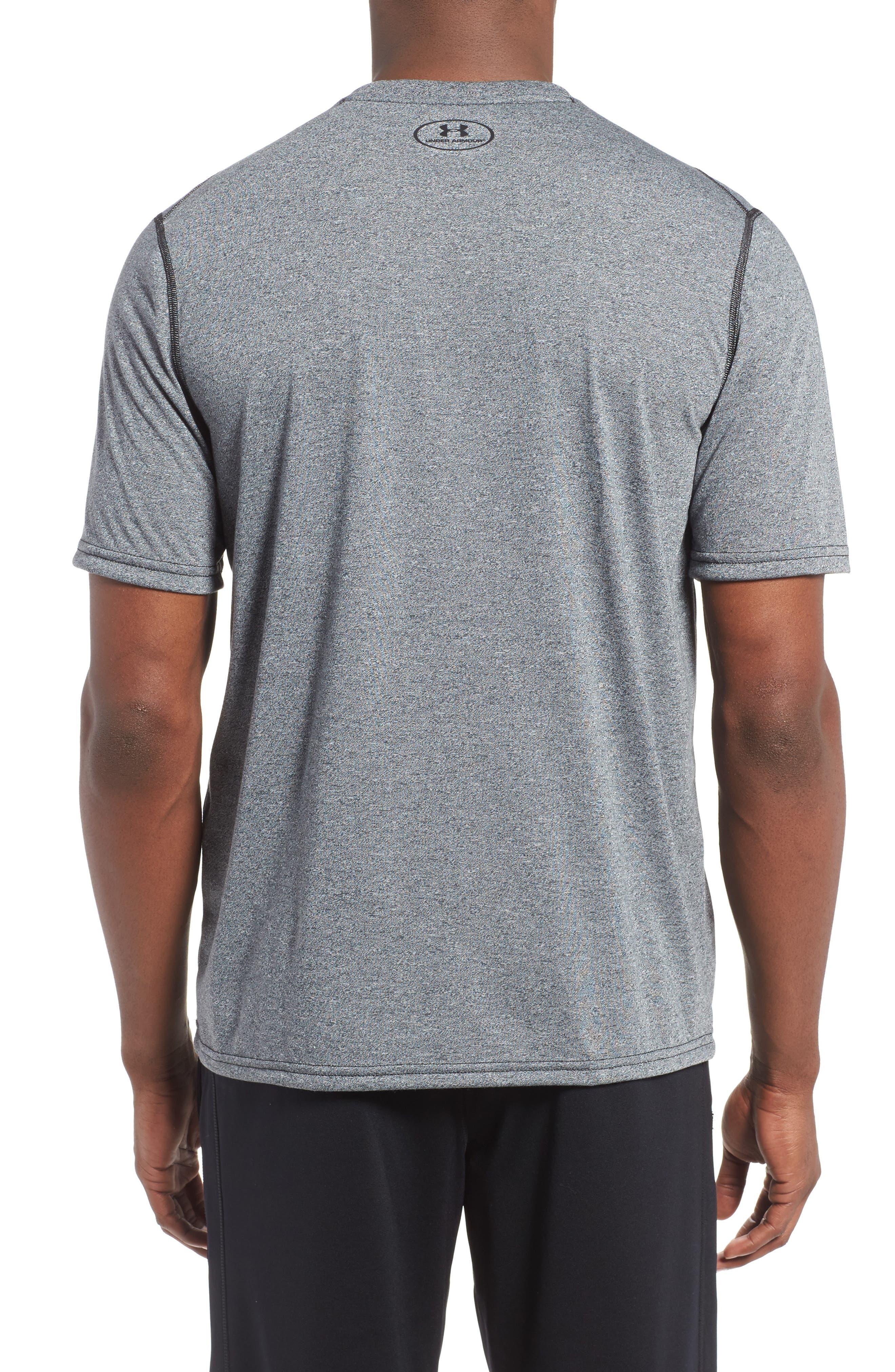 Regular Fit Threadborne T-Shirt,                             Alternate thumbnail 2, color,                             BLACK TWIST