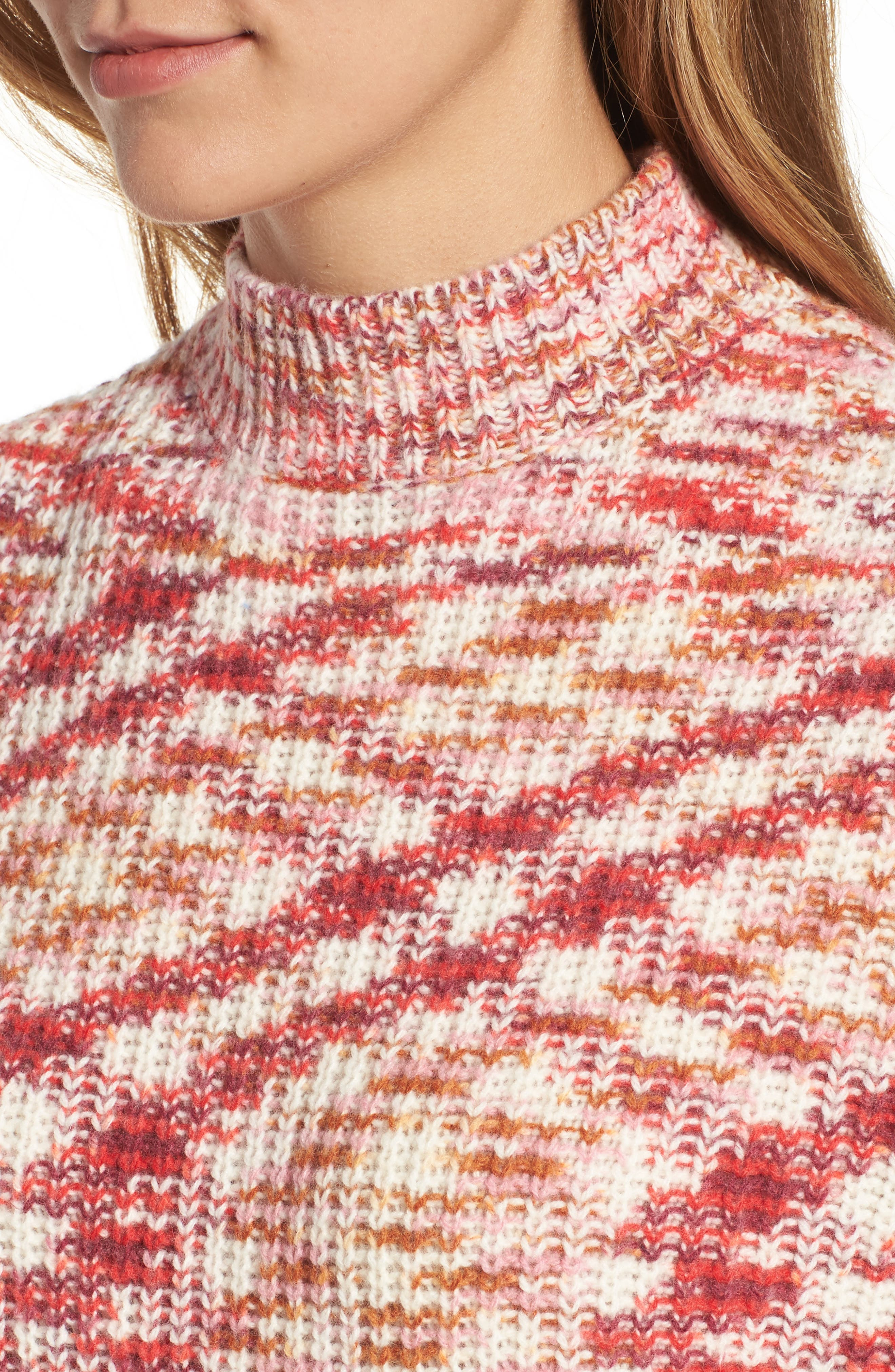 Mock Neck Sweater,                             Alternate thumbnail 4, color,                             651