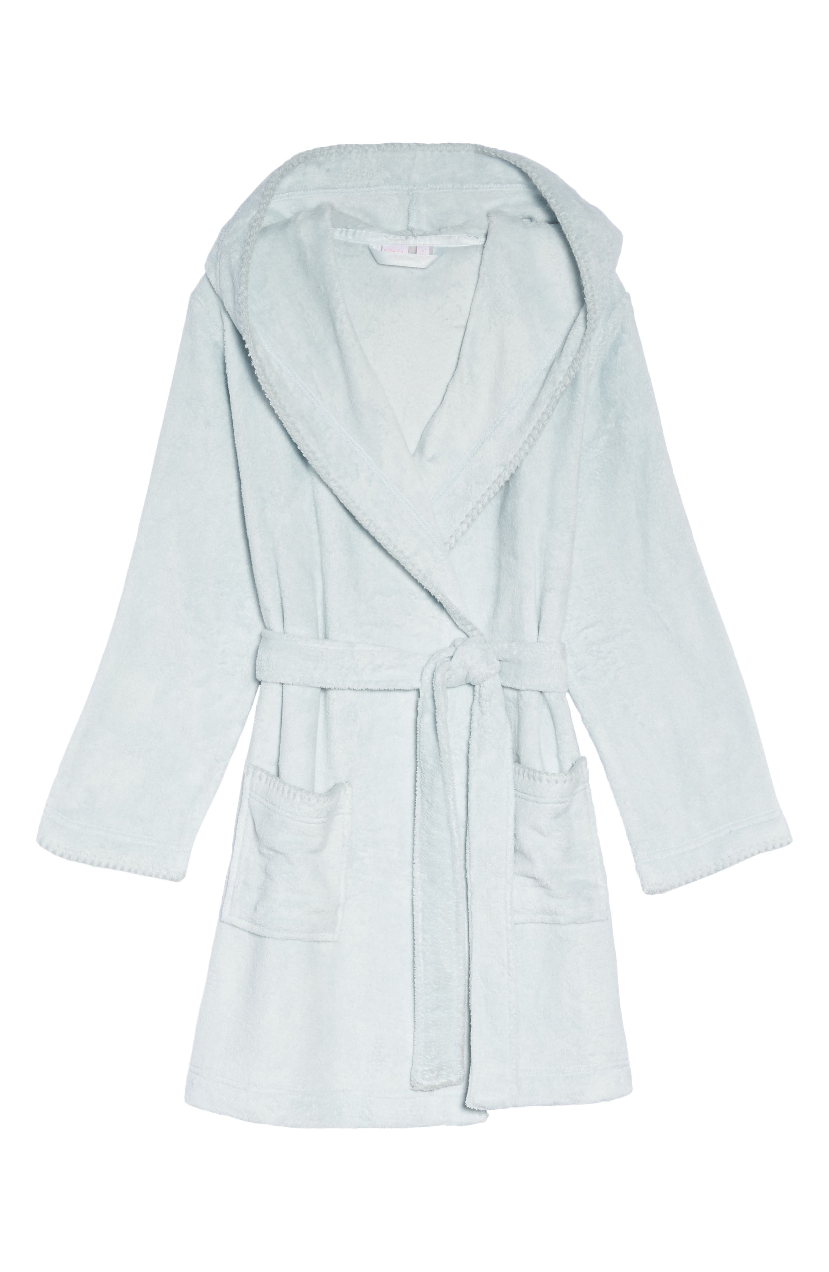 Starry Night Plush Short Robe,                             Alternate thumbnail 22, color,