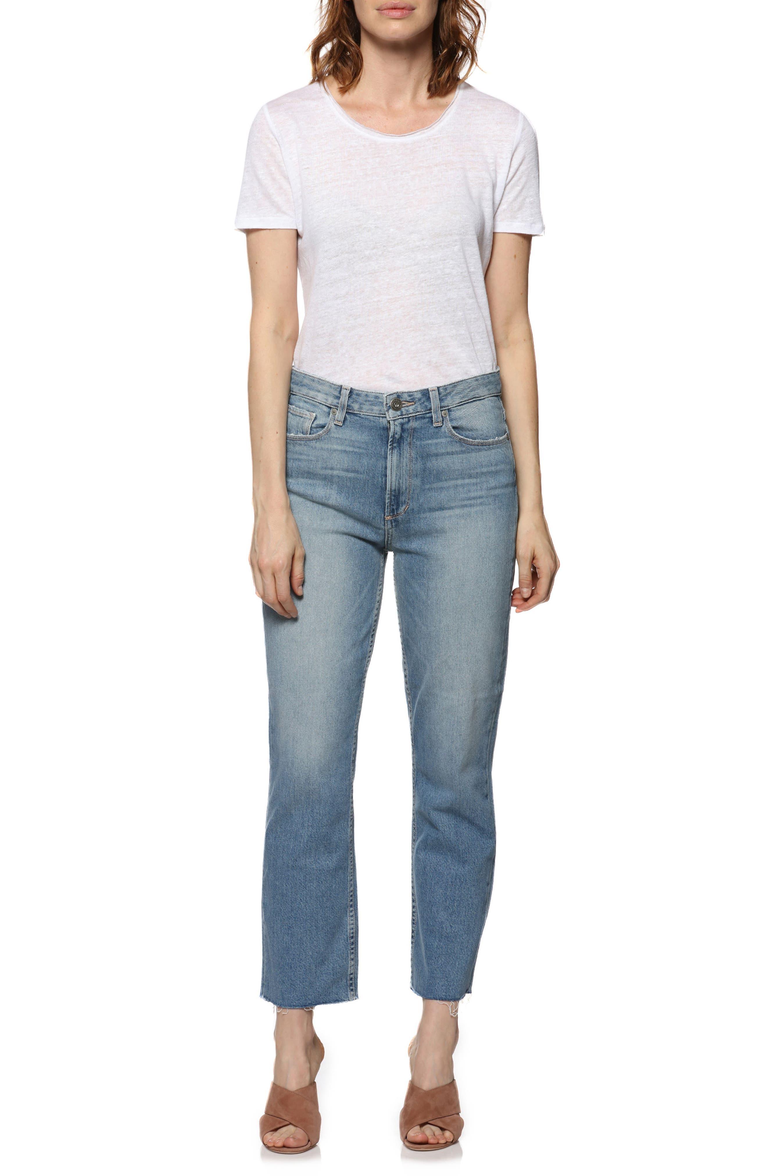 Vintage - Sarah High Waist Crop Straight Leg Jeans,                             Alternate thumbnail 8, color,                             400