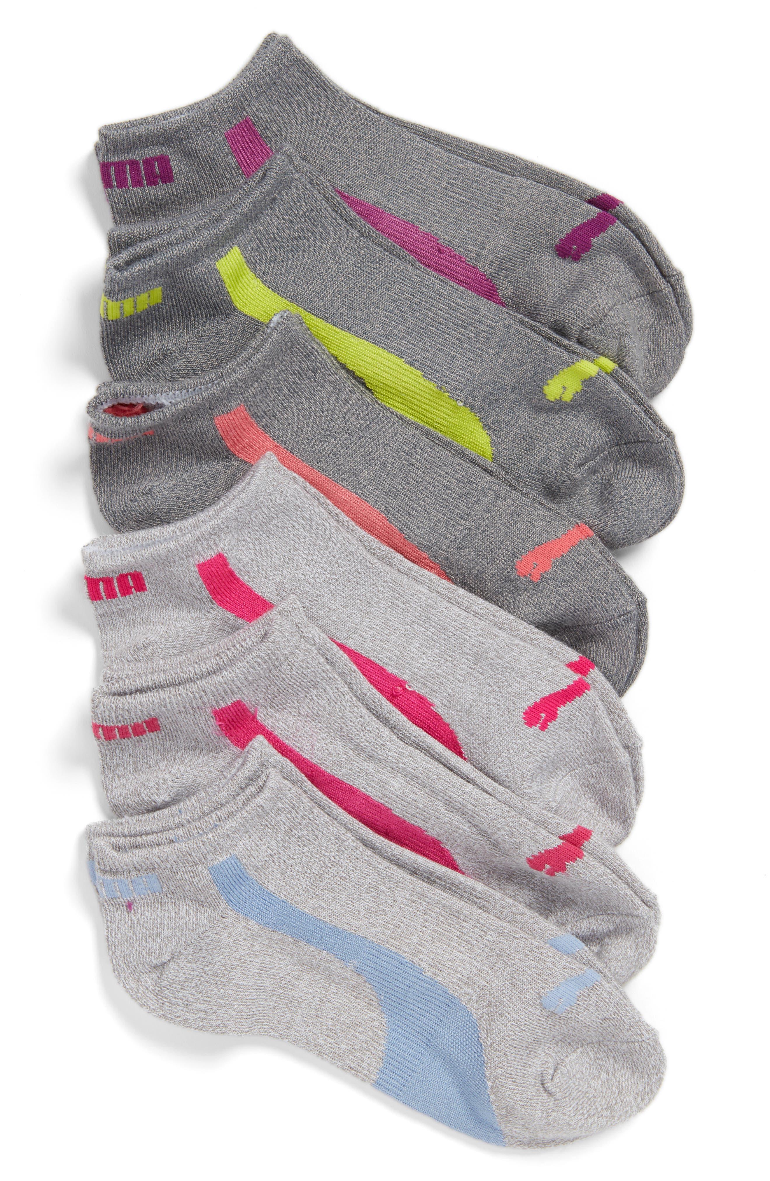 6-Pack No-Show Socks,                             Main thumbnail 1, color,                             035