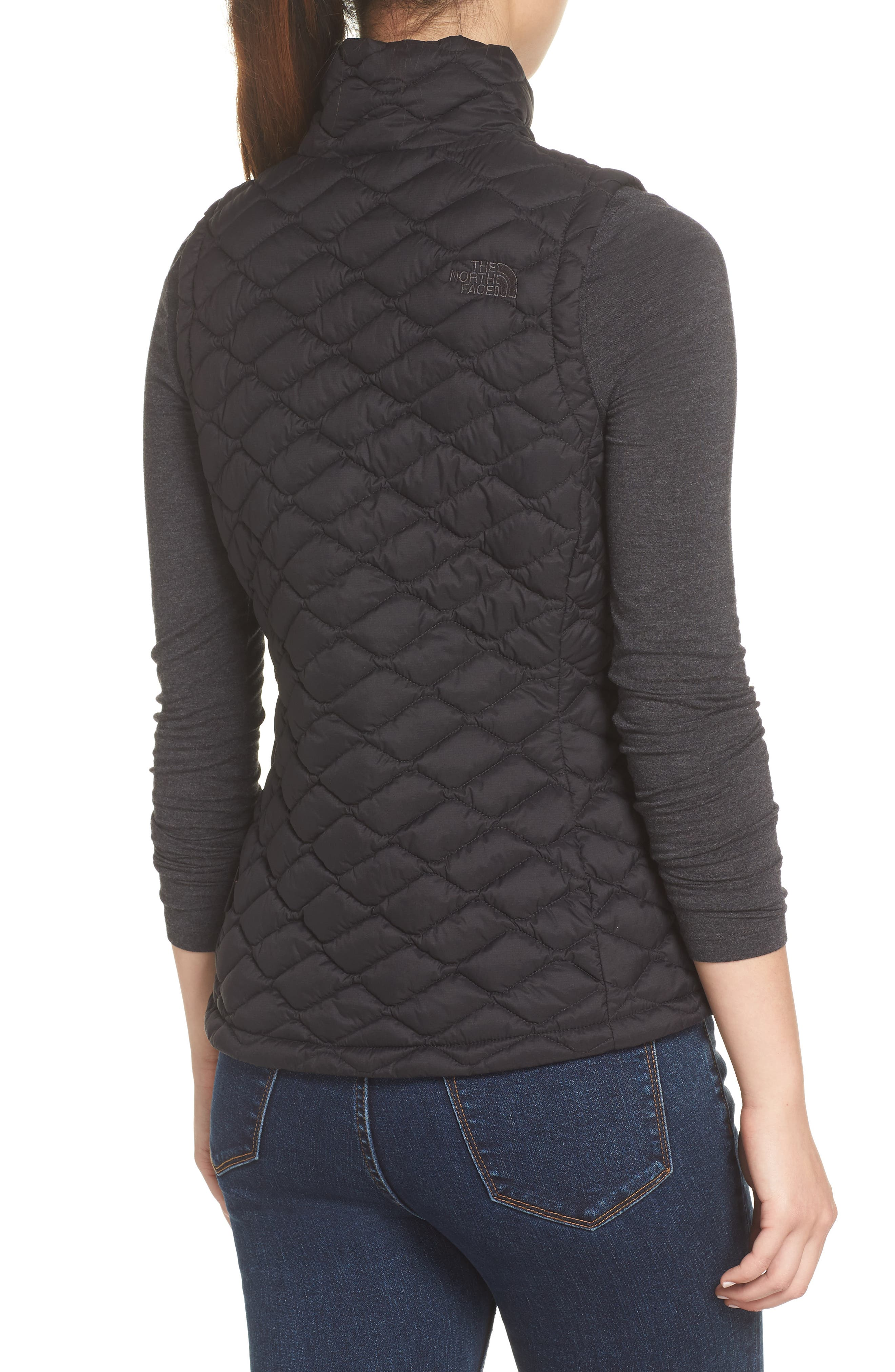 THE NORTH FACE,                             ThermoBall<sup>™</sup> PrimaLoft<sup>®</sup> Vest,                             Alternate thumbnail 2, color,                             TNF BLACK MATTE