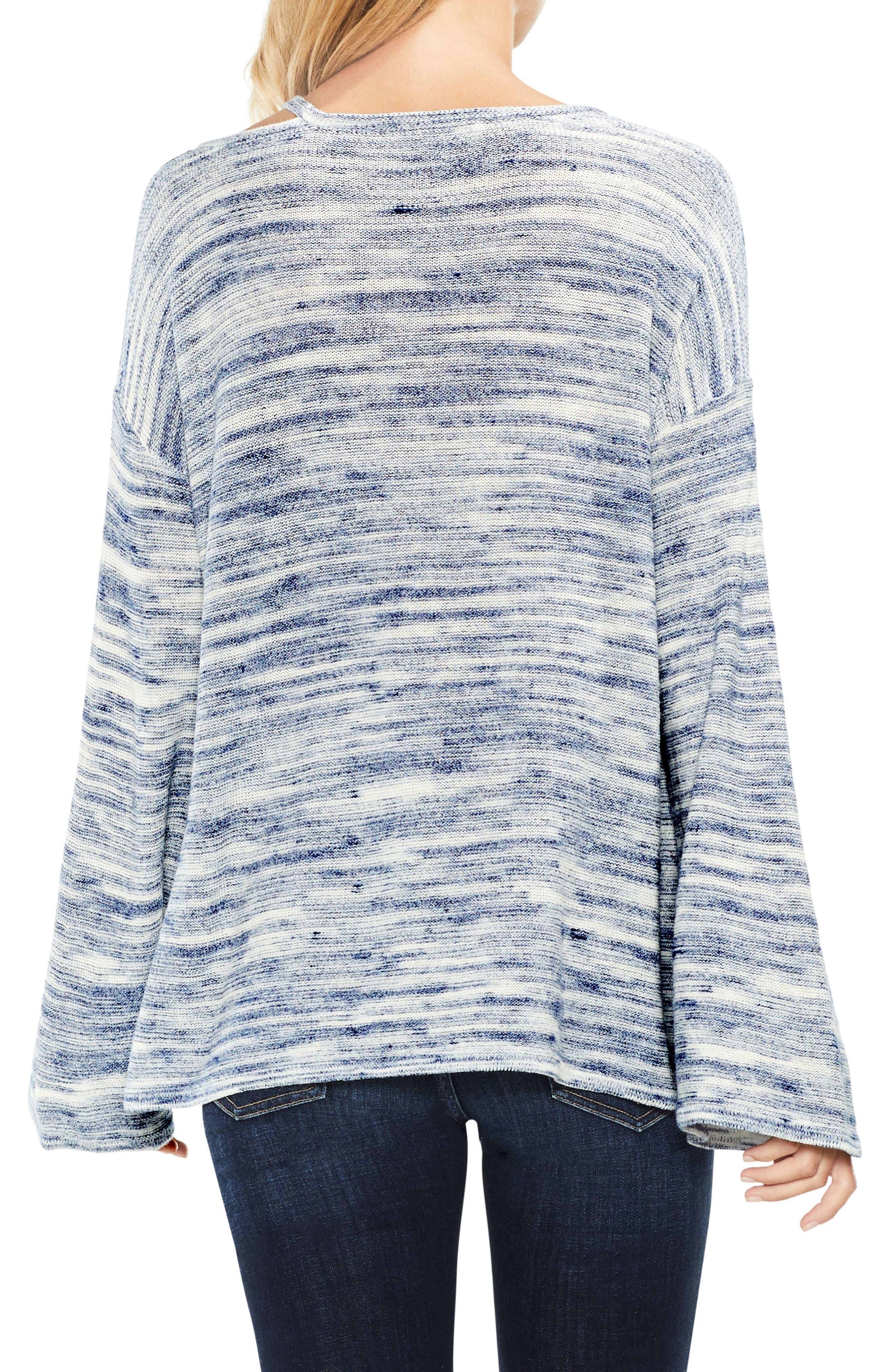 Drop Shoulder Space Dye Sweater,                             Alternate thumbnail 3, color,