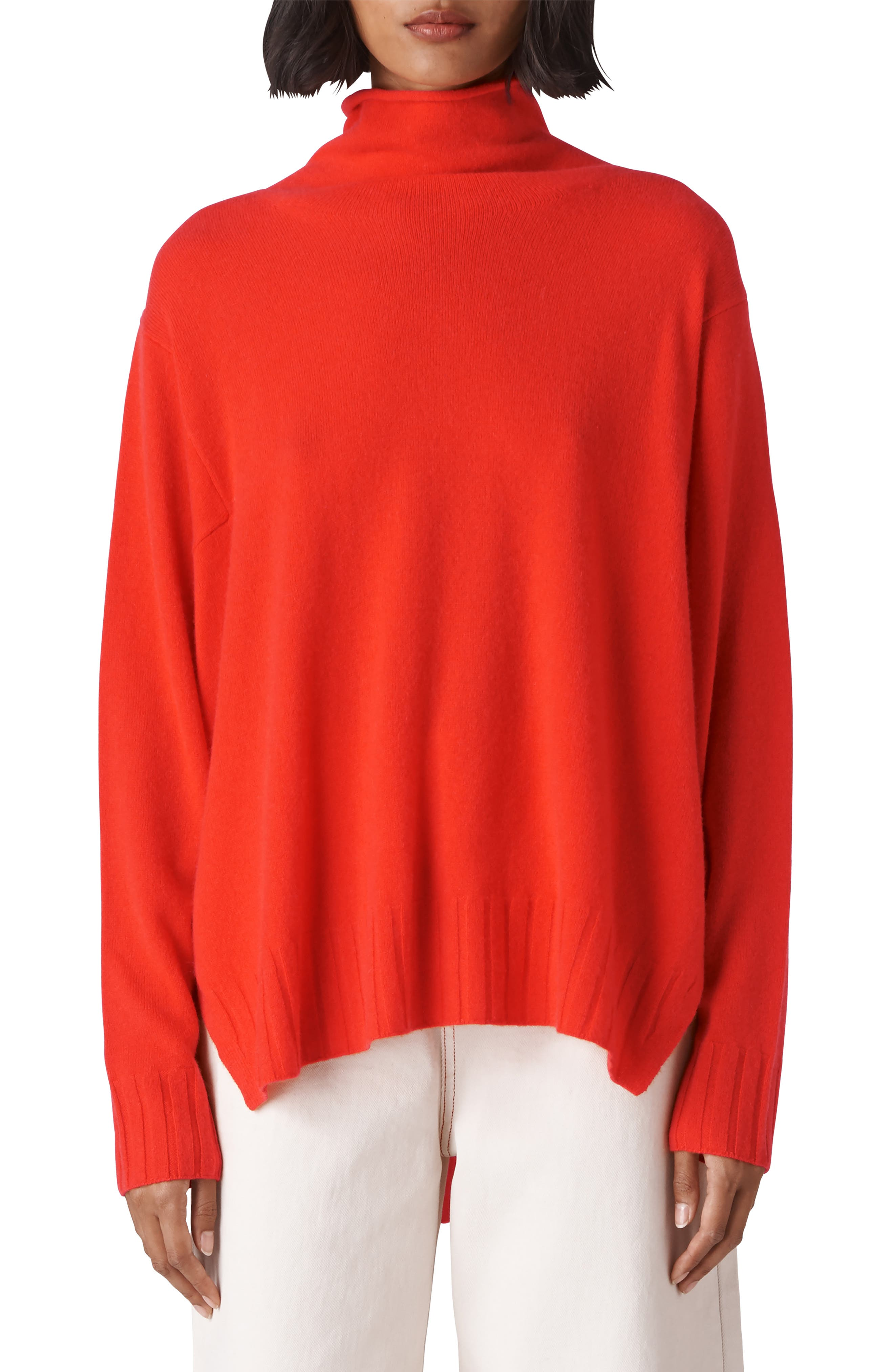 Funnel Neck Cashmere Sweater,                             Main thumbnail 1, color,                             600