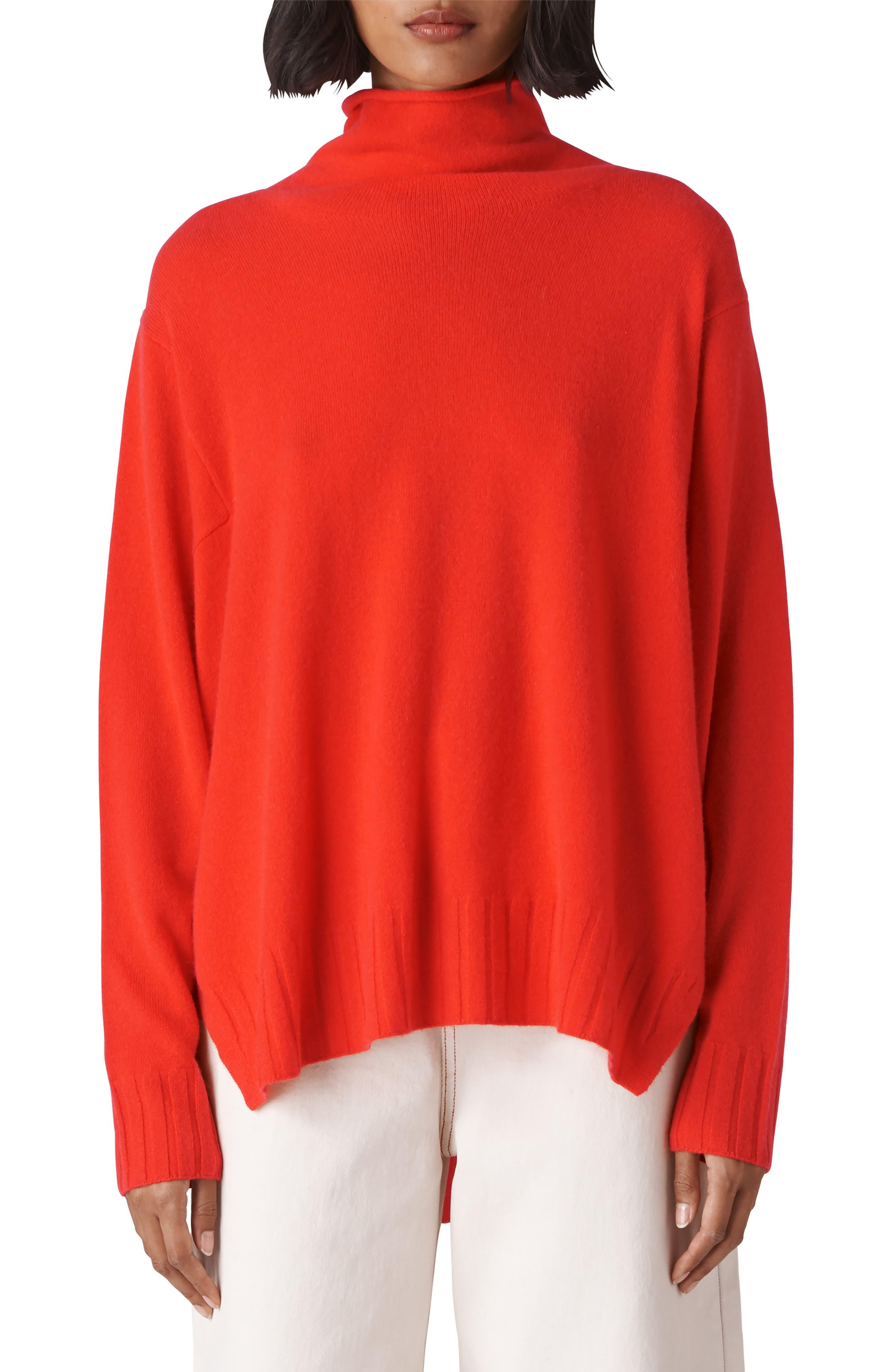 Funnel Neck Cashmere Sweater,                         Main,                         color, 600
